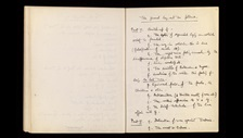 George Orwell notes for Nineteen Eighty-Four, 1939-40 (With kind permission of the estate of the late Sonia Brownell Orwell)