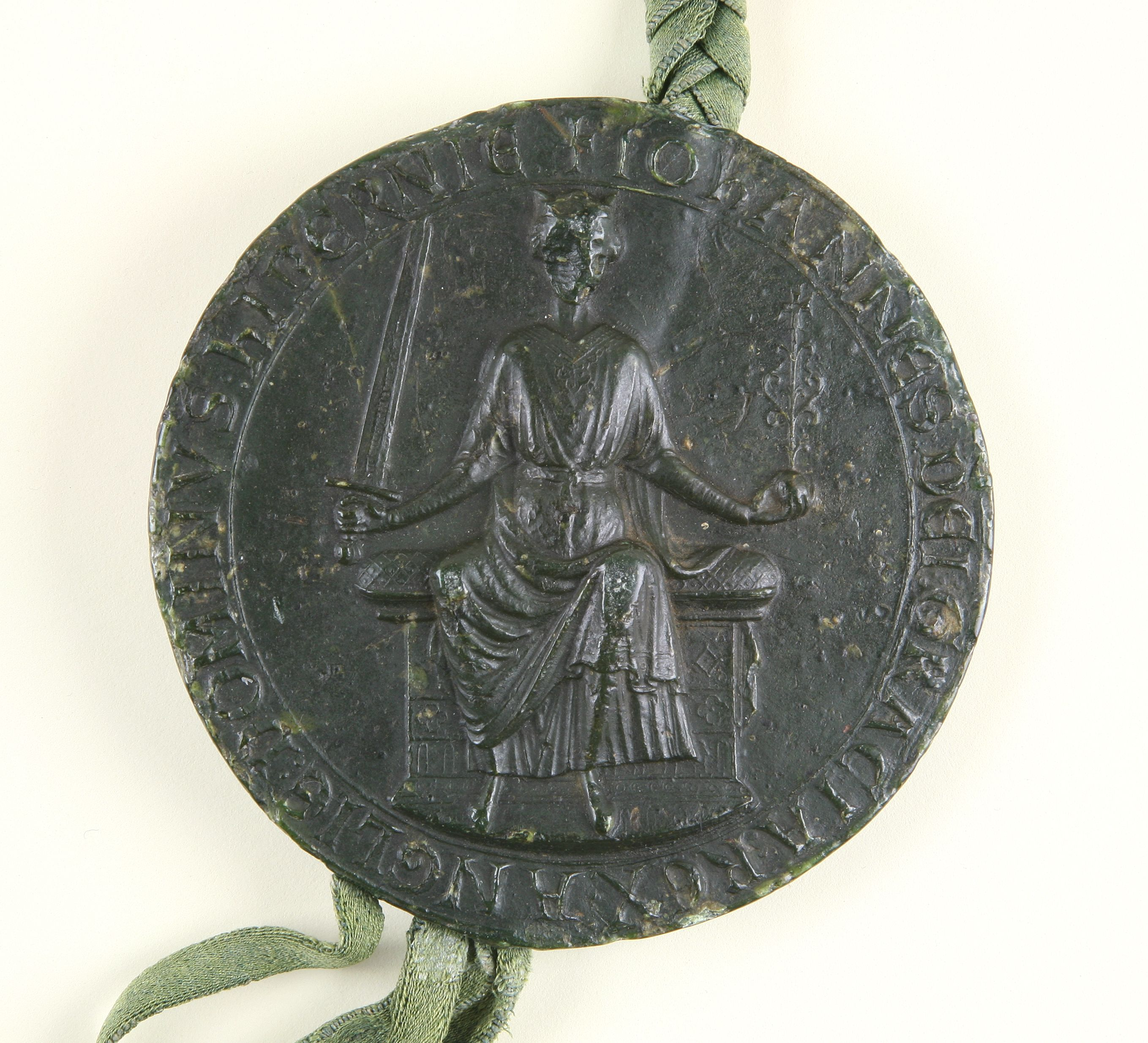 Great Seal of King John, 1203 © Eton College Archives on display in Magna Carta: Law, Liberty, Legacy