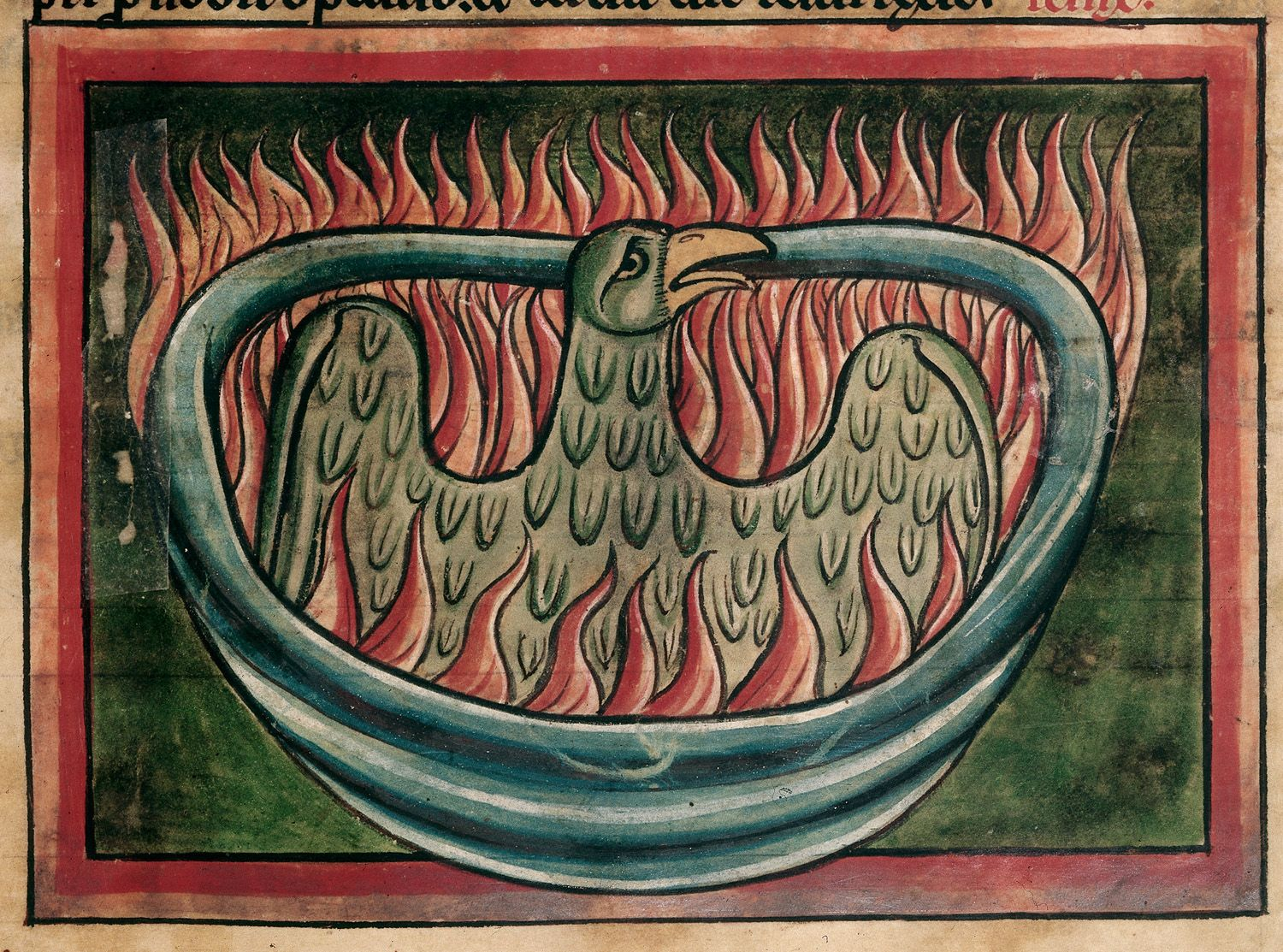 b1beceb9957 DETAIL - A phoenix rising from the ashes in a 13th-century bestiary (c)  British Library