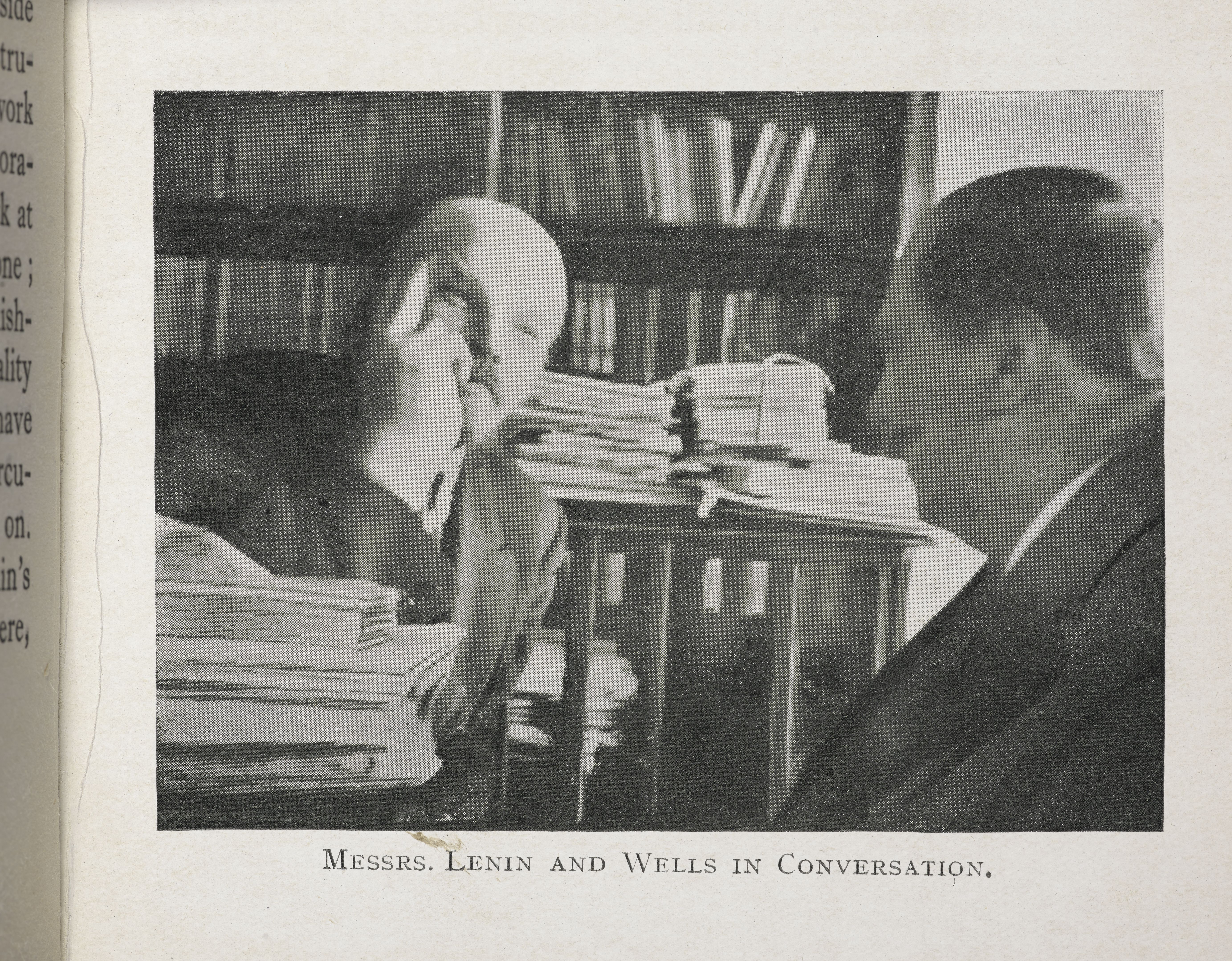 H.G. Wells in conversation with Lenin, from 'Russia in Shadows, 1920 (c) British Library Board