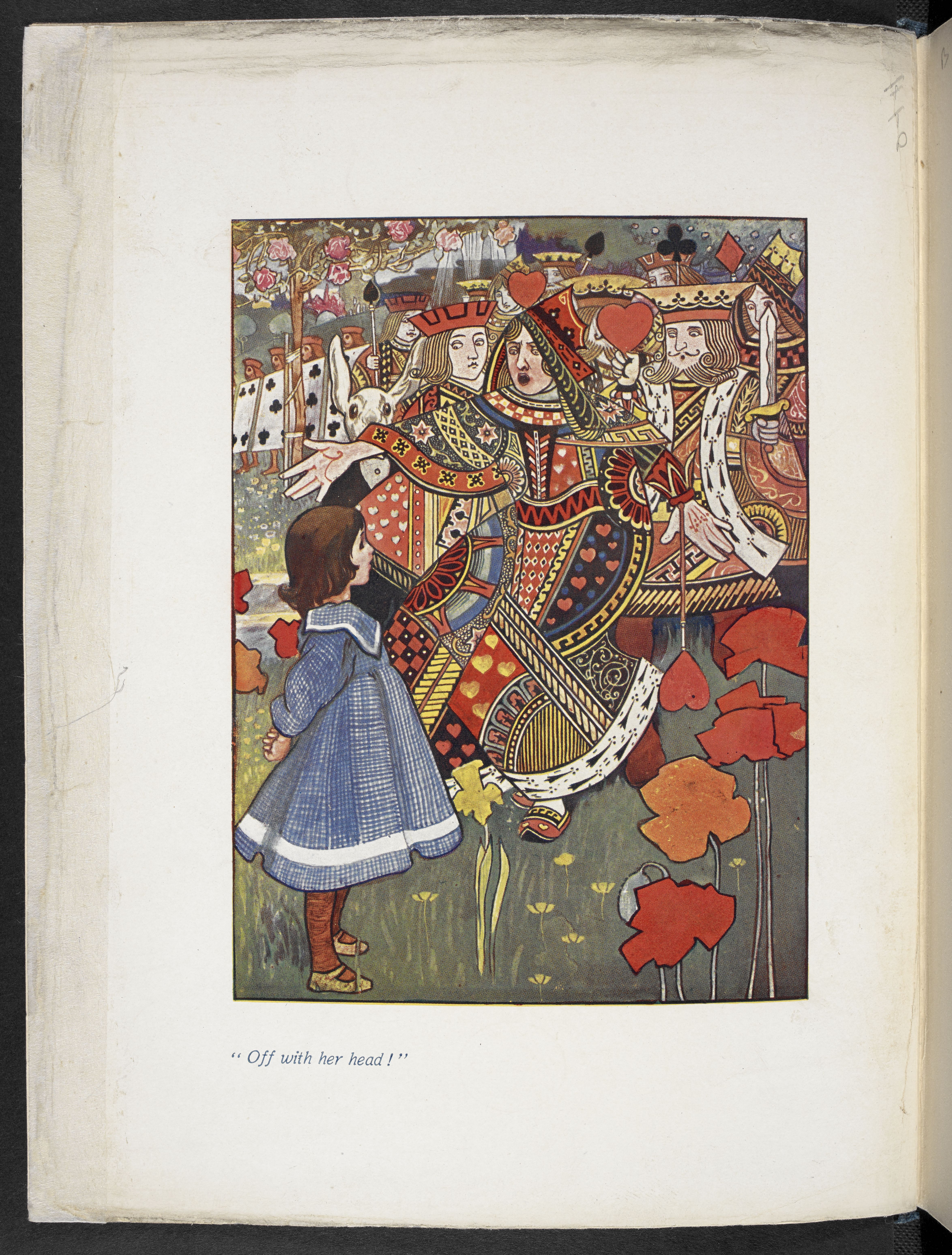 An illustration of Alice with the Red Queen from an illustrated edition of Alice's Adventures in Wonderland by Charles Robinson (1907) (c) The British Library Board