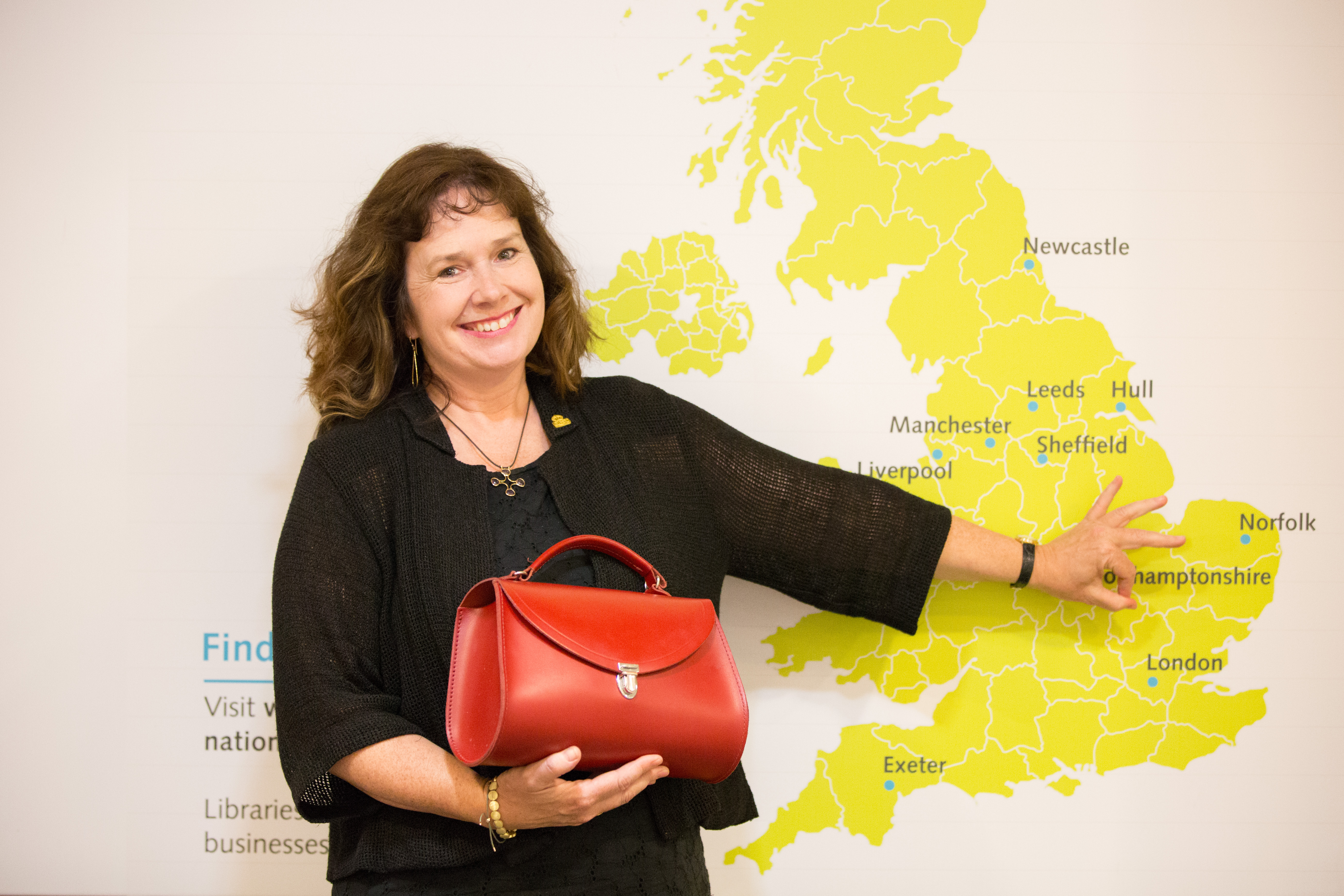 Julie Deane, Founder of the Cambridge Satchel Company and the British Library Business & IP Centre's Entrepreneur-in-Residence