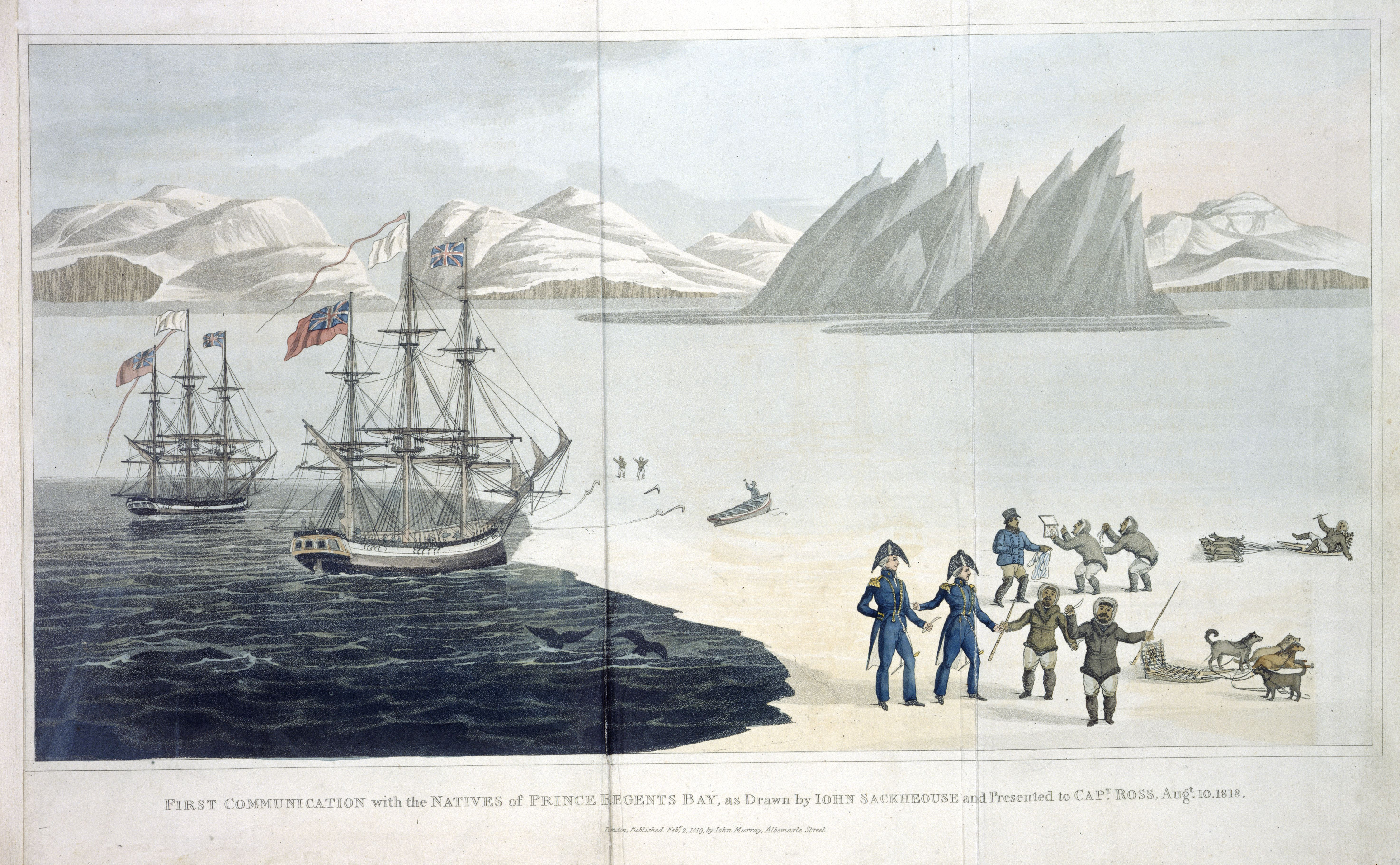 John Ross, A Voyage of Discovery … enquiring into the possibility of a North-West Passage. London, 1819. Photography courtesy of the British Library.