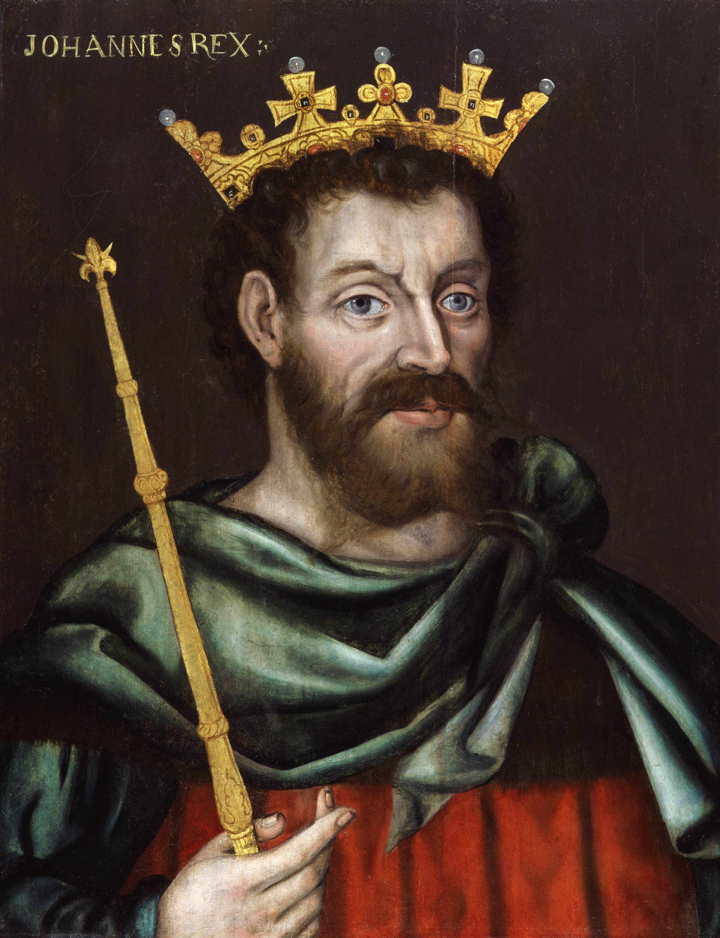 First known portrait of King John by an unknown artist, 1620 © National Portrait Gallery on display in Magna Carta: Law, Liberty, Legacy