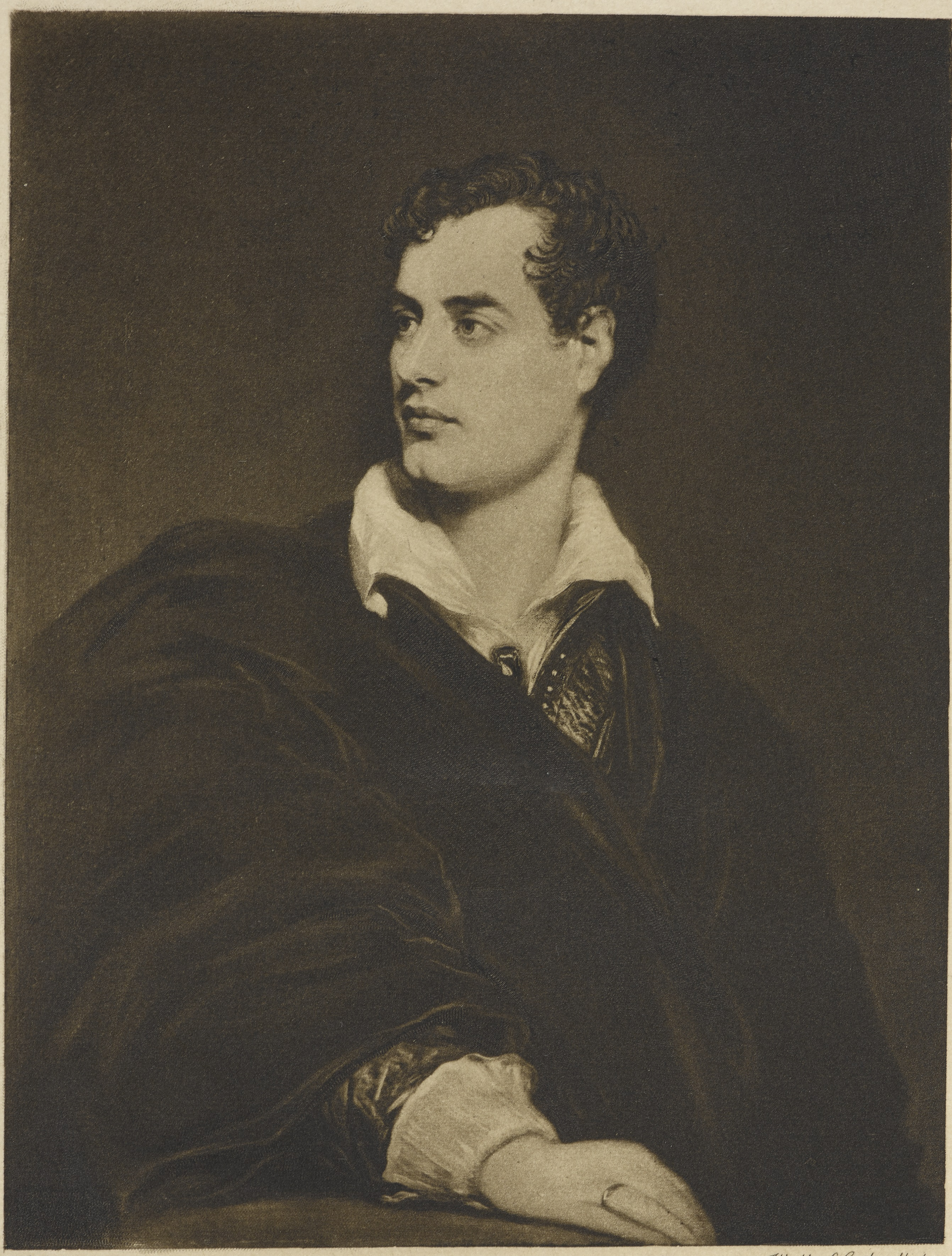Portrait of Lord Byron, by Walker & Cockerell, after Thomas Phillips. © British Library Board.