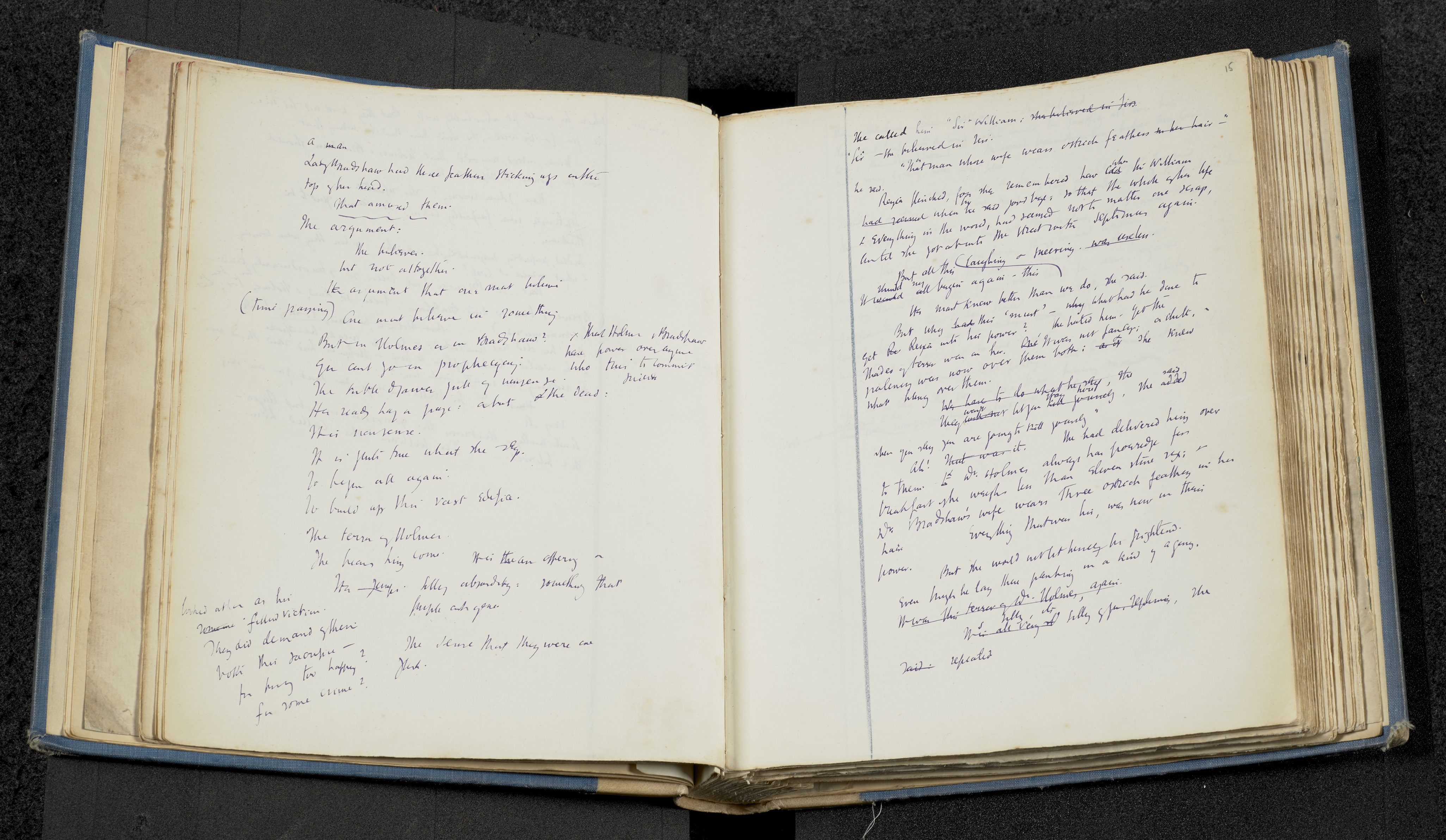 Original manuscript by Virginia Woolf for the novel Mrs Dalloway, 1924. The Society of Authors as the Literary Representative of the Estate of Virginia Woolf.
