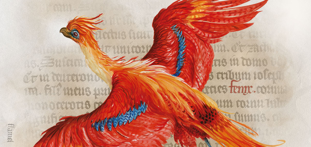 Phoenix illustration by Jim Kay © Bloomsbury Publishing Plc 2016. Original design by the British Library 2017.