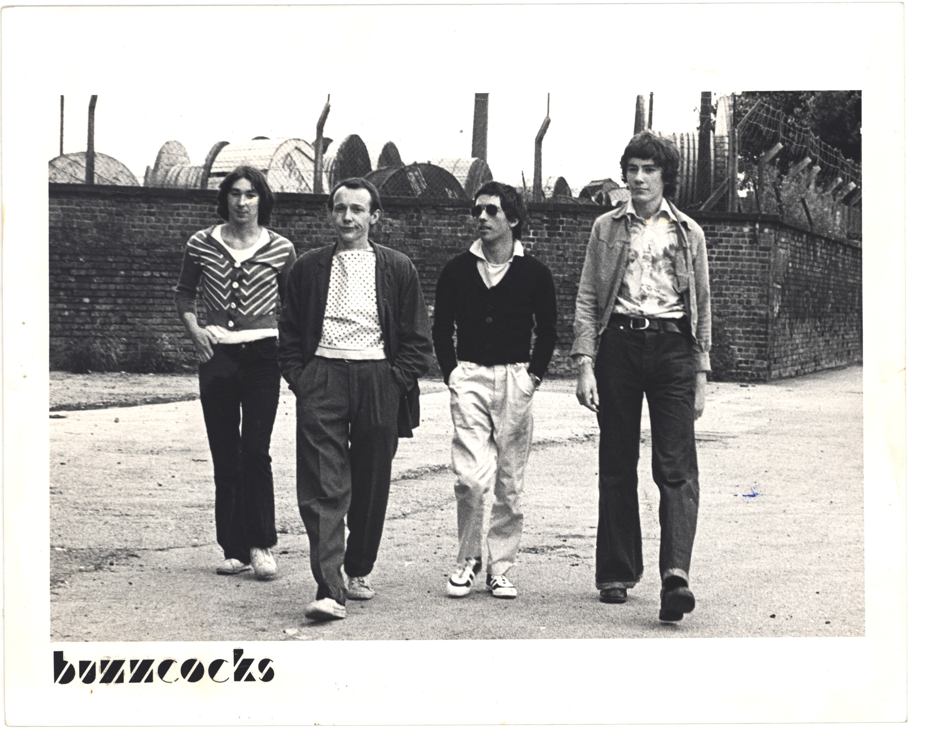 Photograph of Buzzcocks (1976). From England's Dreaming: The Jon Savage Archive held at Liverpool John Moores University