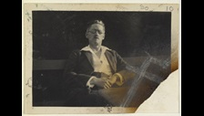 Photograph of James Joyce. This material is in the Public Domain