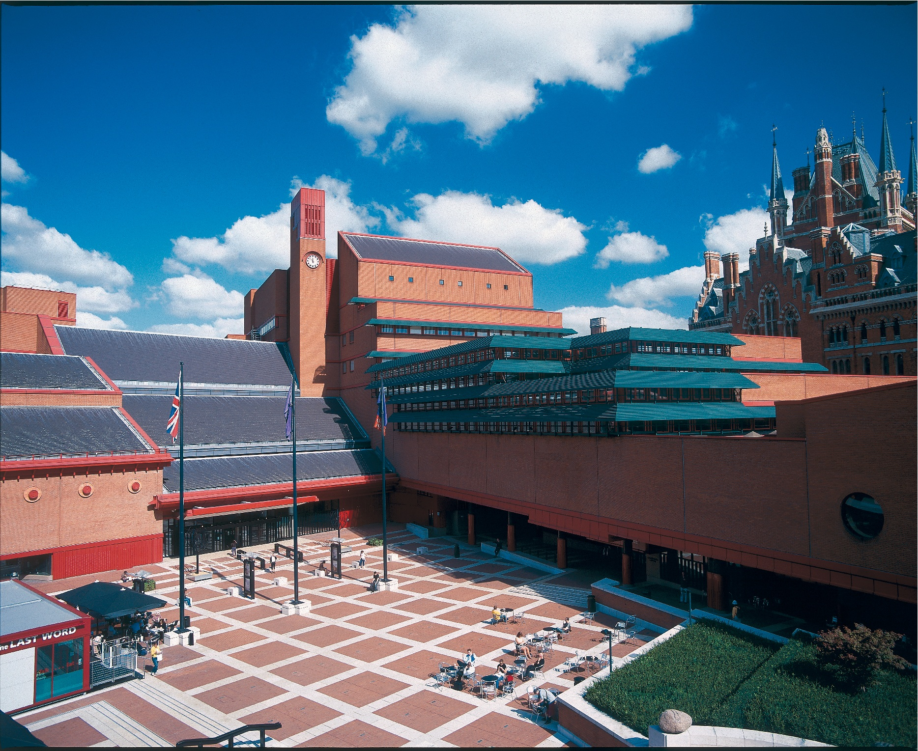 British Library and piazza