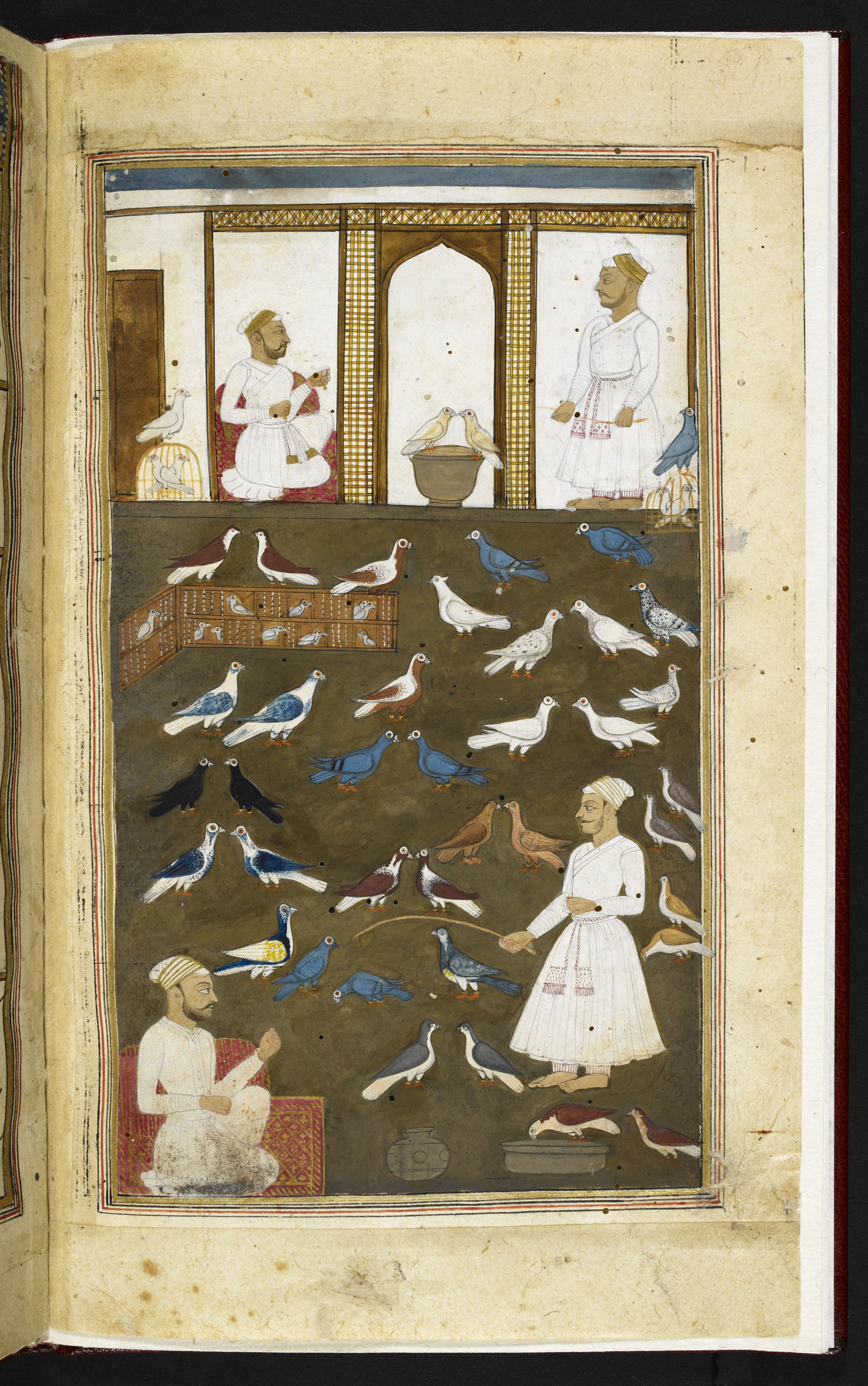 Instructional poem for pigeon-fanciers by Valih Musavi 1788 on display in Mughal India c British Library Board