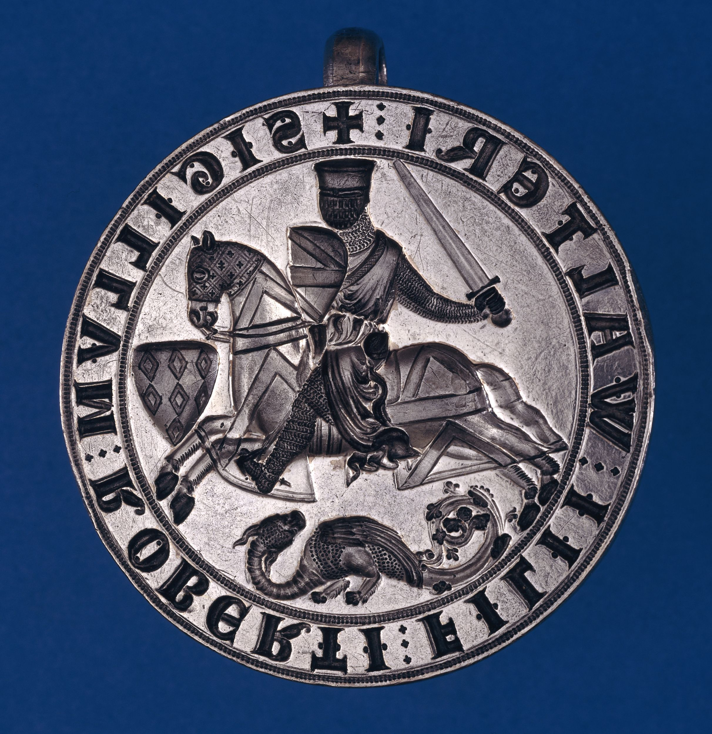 Seal matrix of Robert fitz Walter, c.1235 © British Museum on display in Magna Carta: Law, Liberty, Legacy