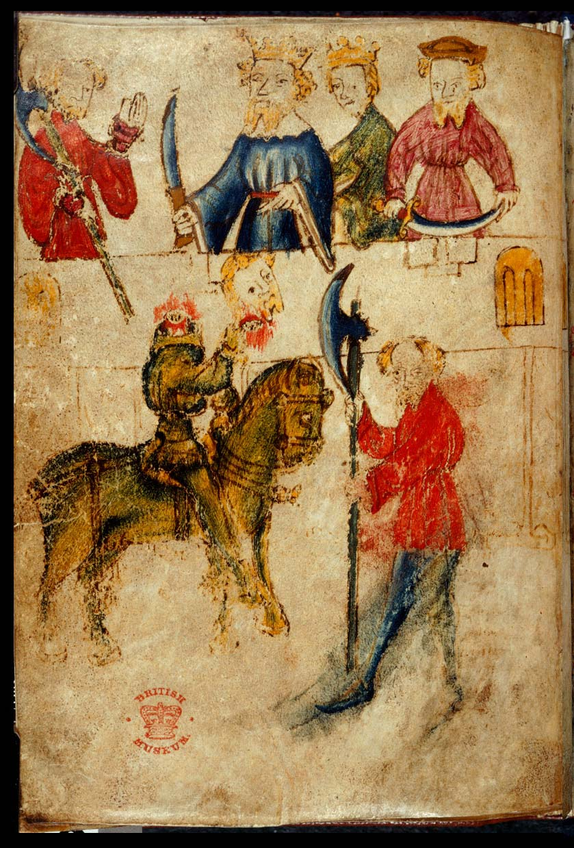 Gawain and the Green Knight , considered to be one of the masterpieces of Middle English Literature (Cotton Nero MS A.X) (c) British Library Board