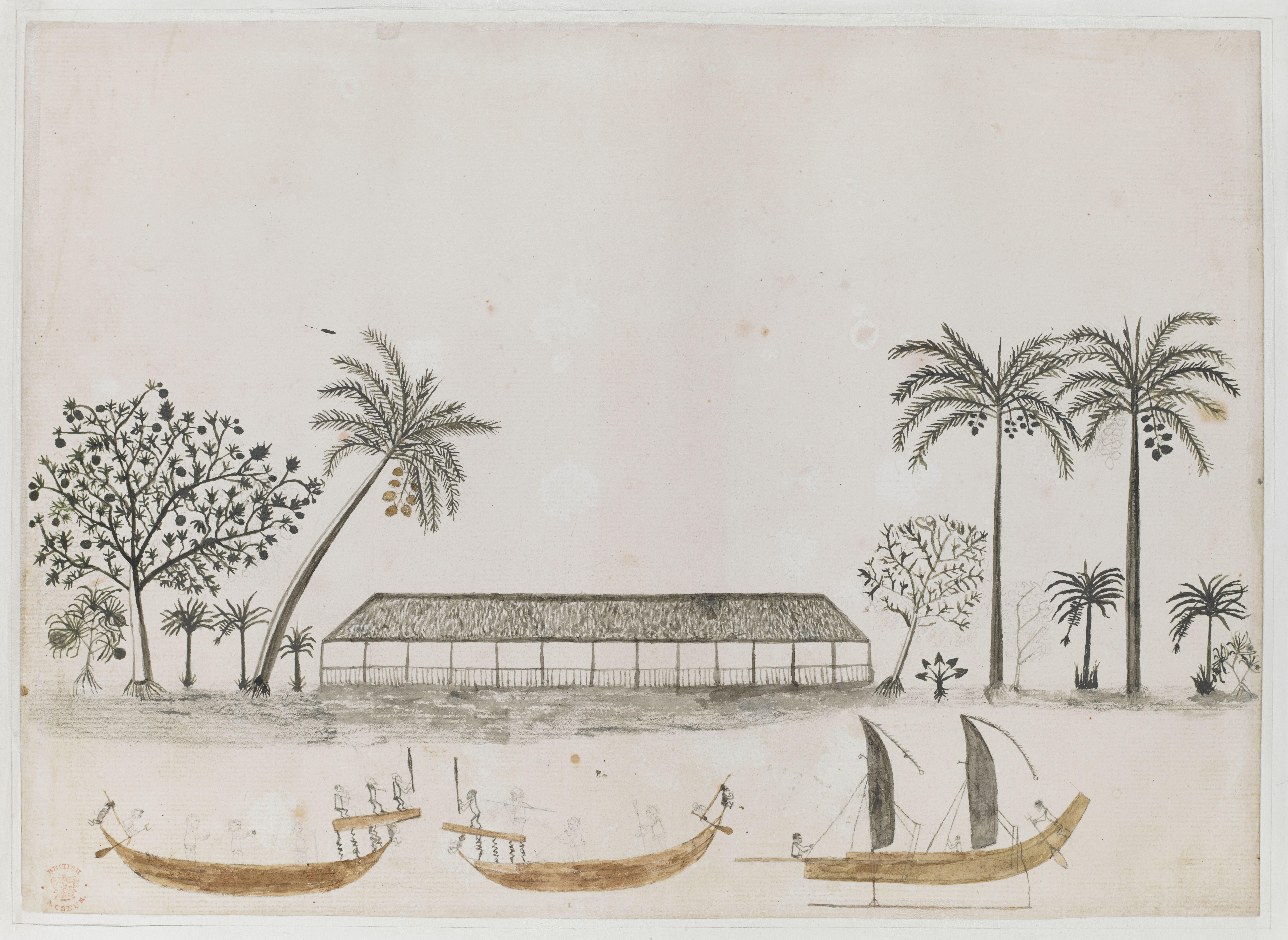 Tahitian Scene by Tupaia (c) British Library Board