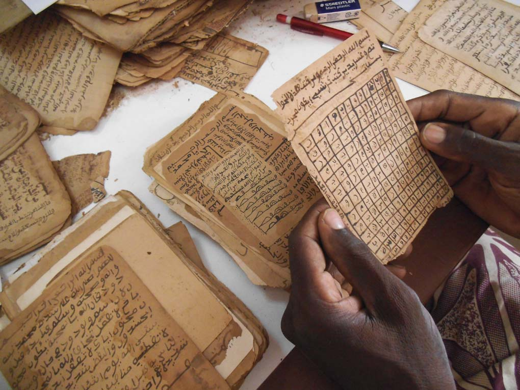 Talismans on how to be loved in Djenne public library, Mali. Endangered Archives Programme. Photography (c) Sophie Sarin