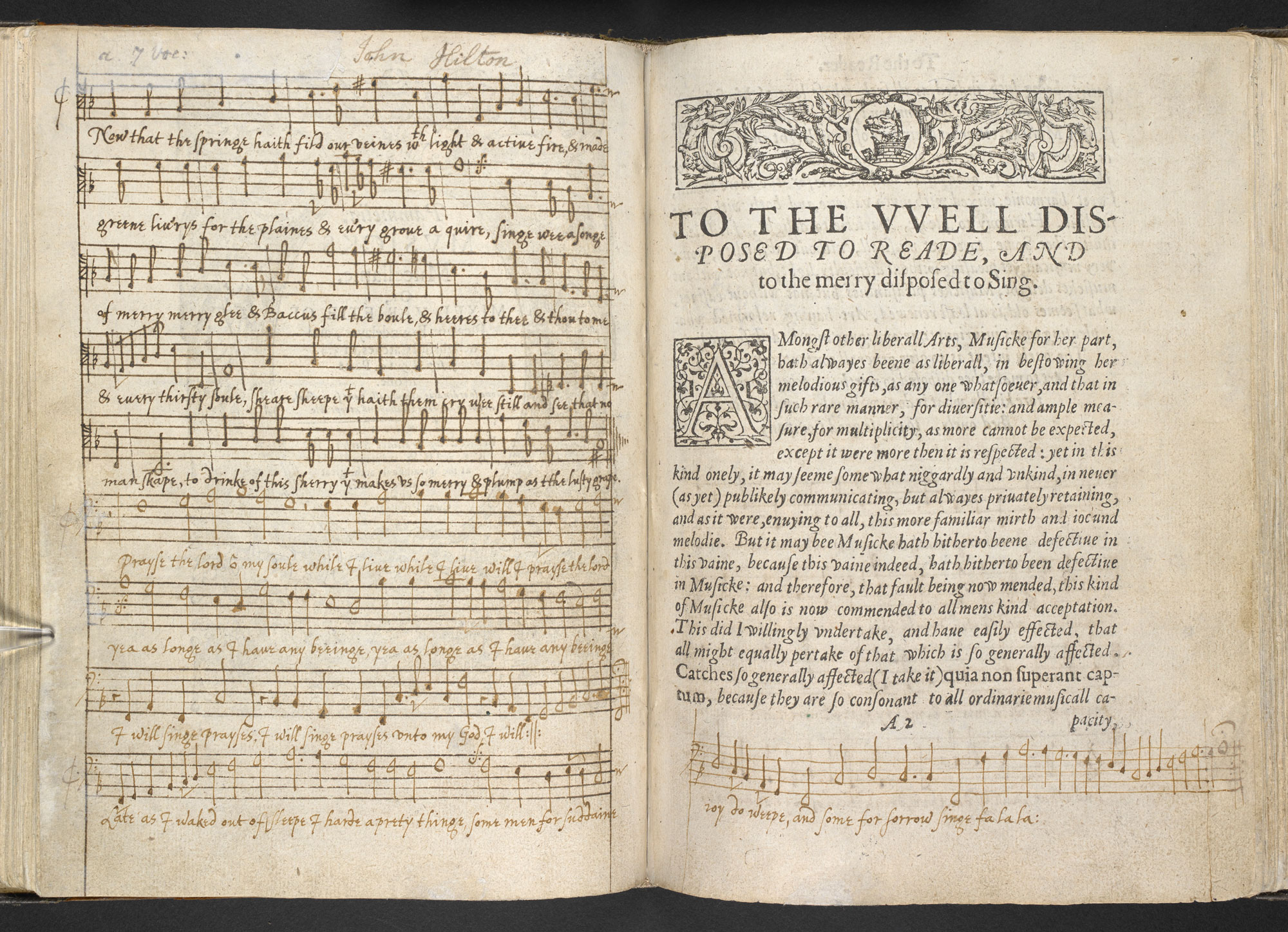 The Fool's song from King Lear, a 17th century music manuscript, British Library