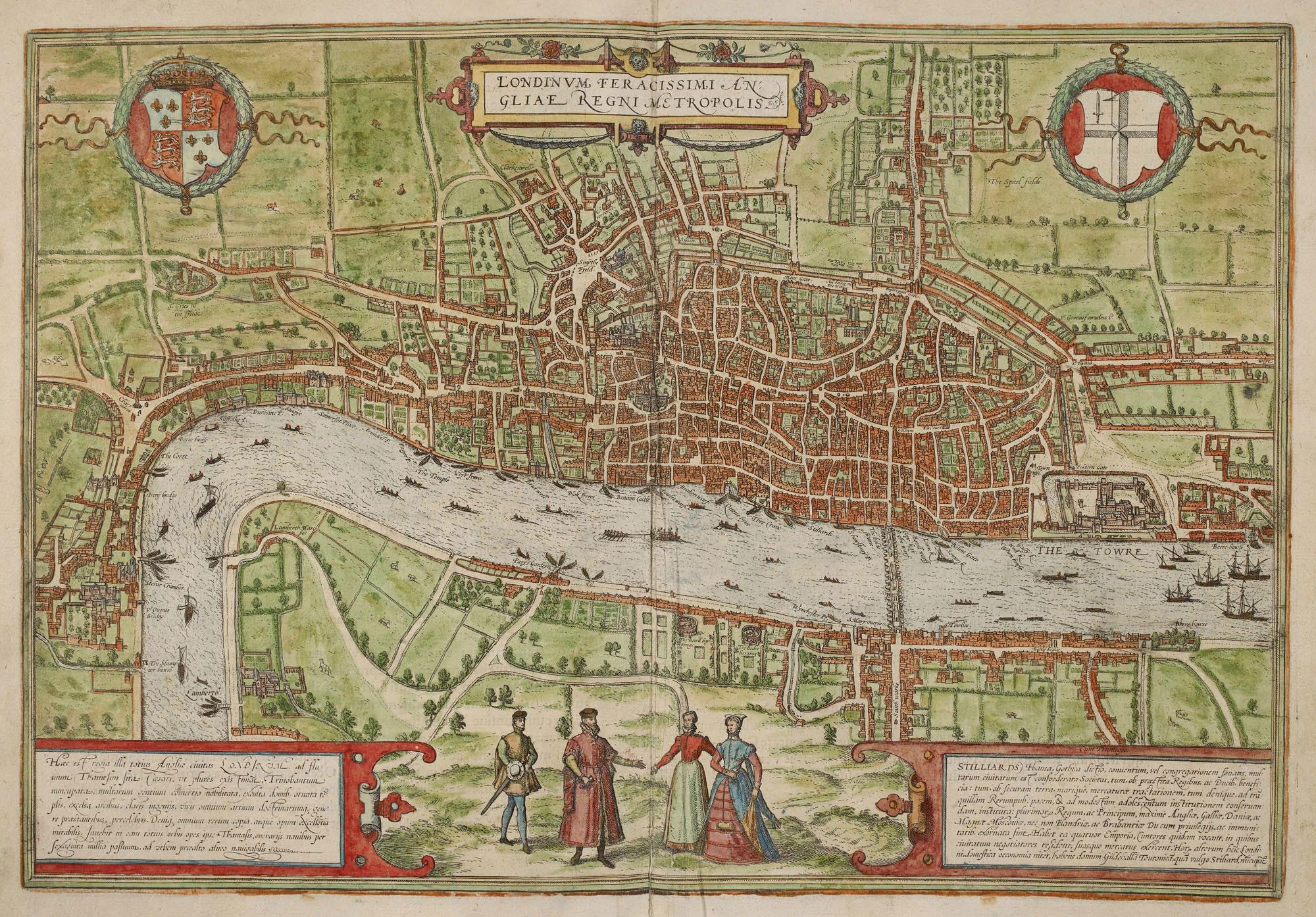 View of London in Civitates Orbis Terrarum, British Library