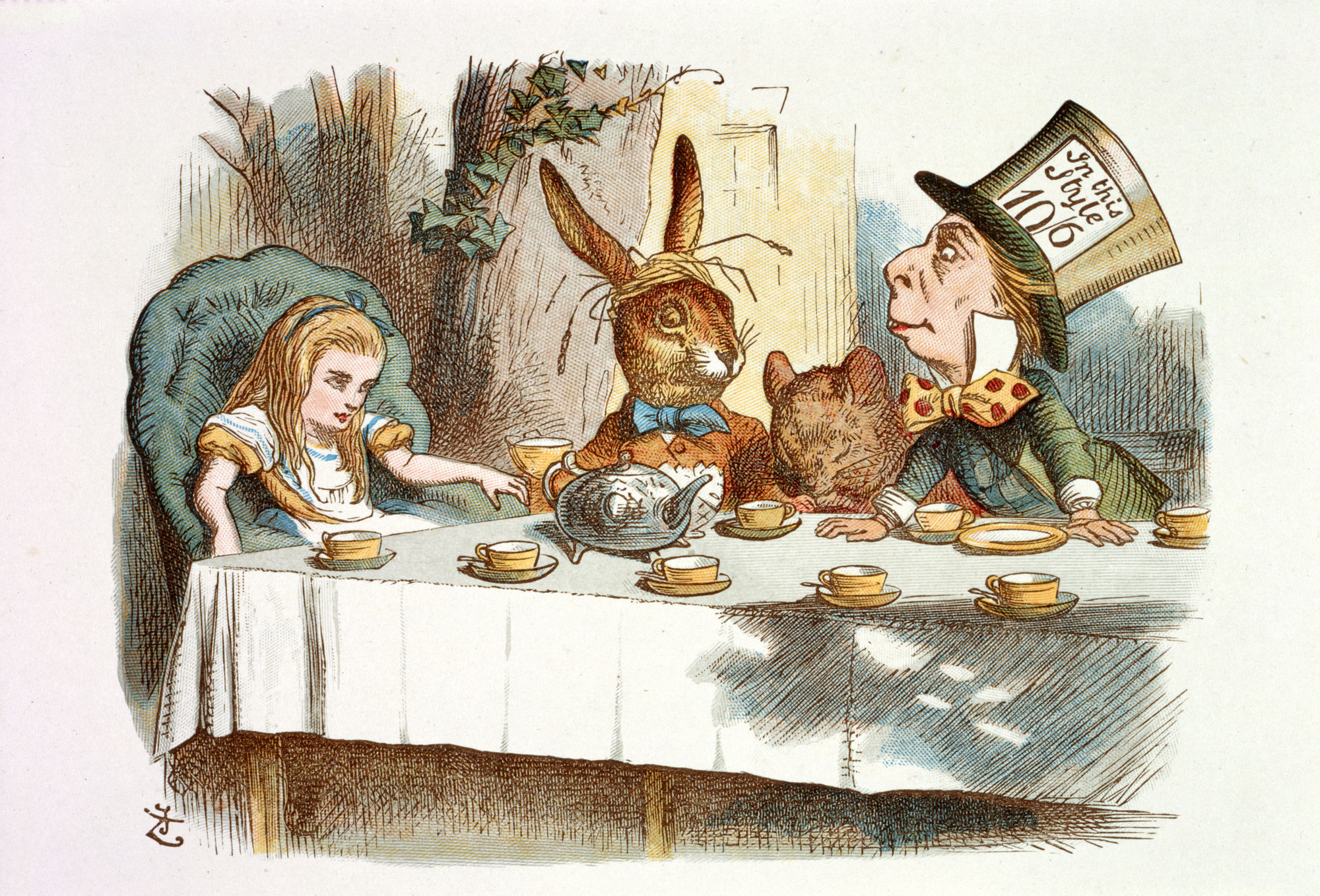 "The Nursery ""Alice,"" containing twenty coloured enlargements from Tenniel's illustrations to ""Alice's Adventures in Wonderland,"" with text adapted to nursery readers by Lewis Carroll (1890)"