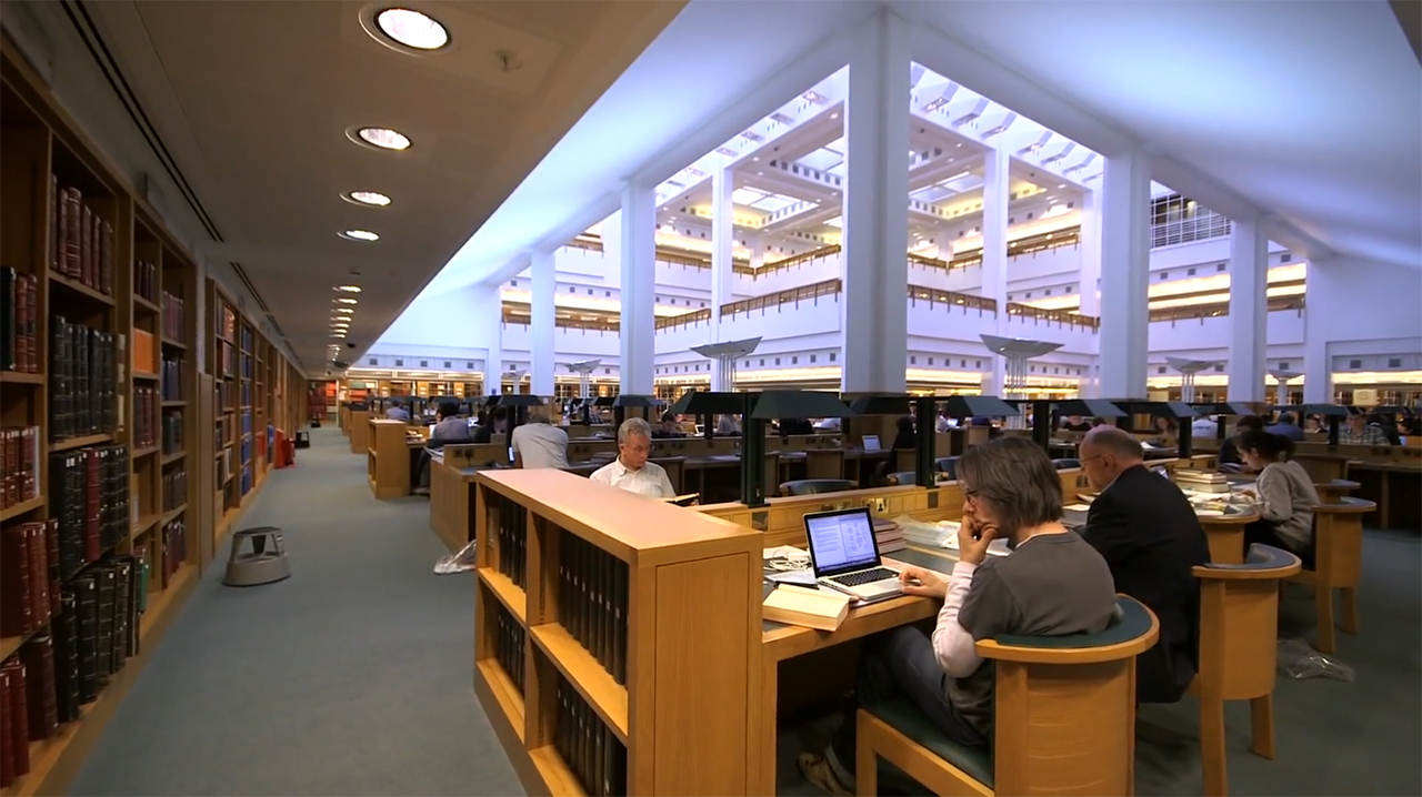 British Library Reading Room at St Pancras