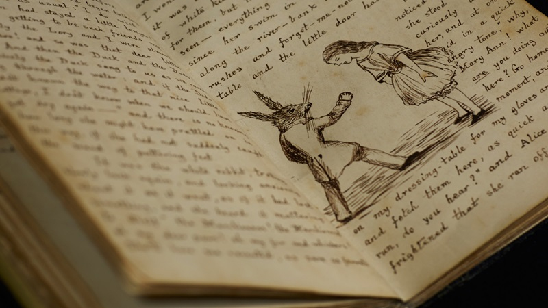 Lewis Carroll's original Alice book