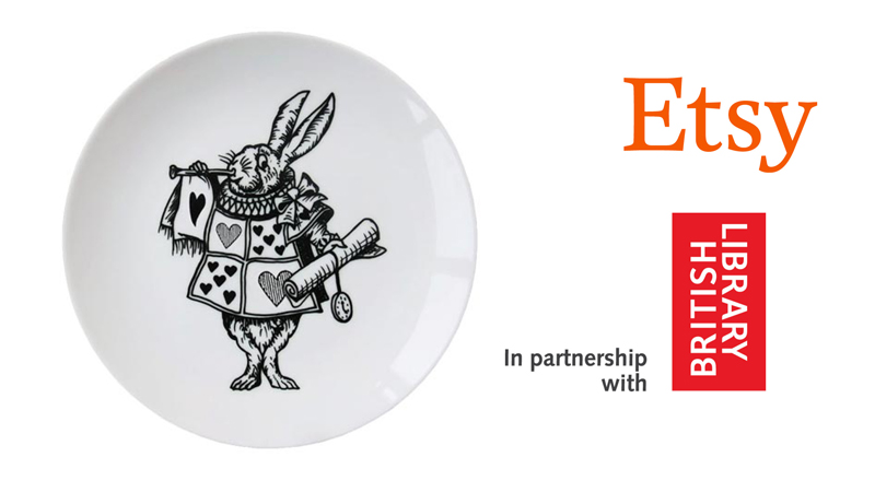 Eleanor Stuart's 'Alice and the Looking Glass' plate