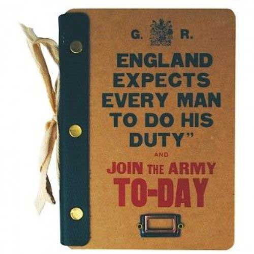 Image of Join the army A5 journal book cover