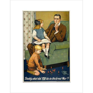 Image from Daddy, what did you do in the war framed print
