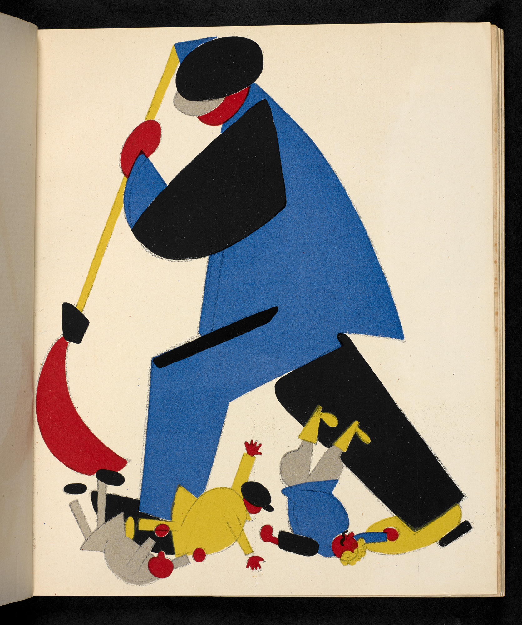 A Worker Sweeping the Criminals