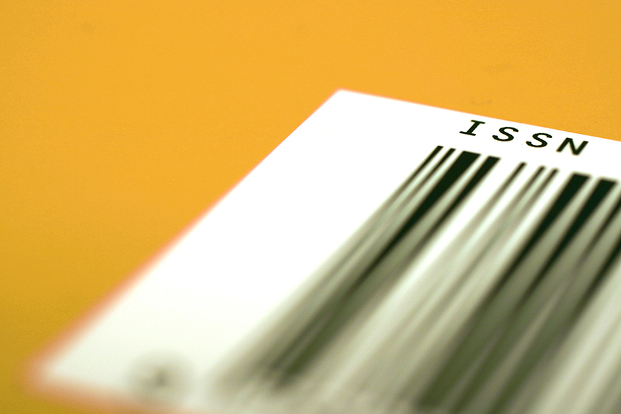 An ISSN barcode