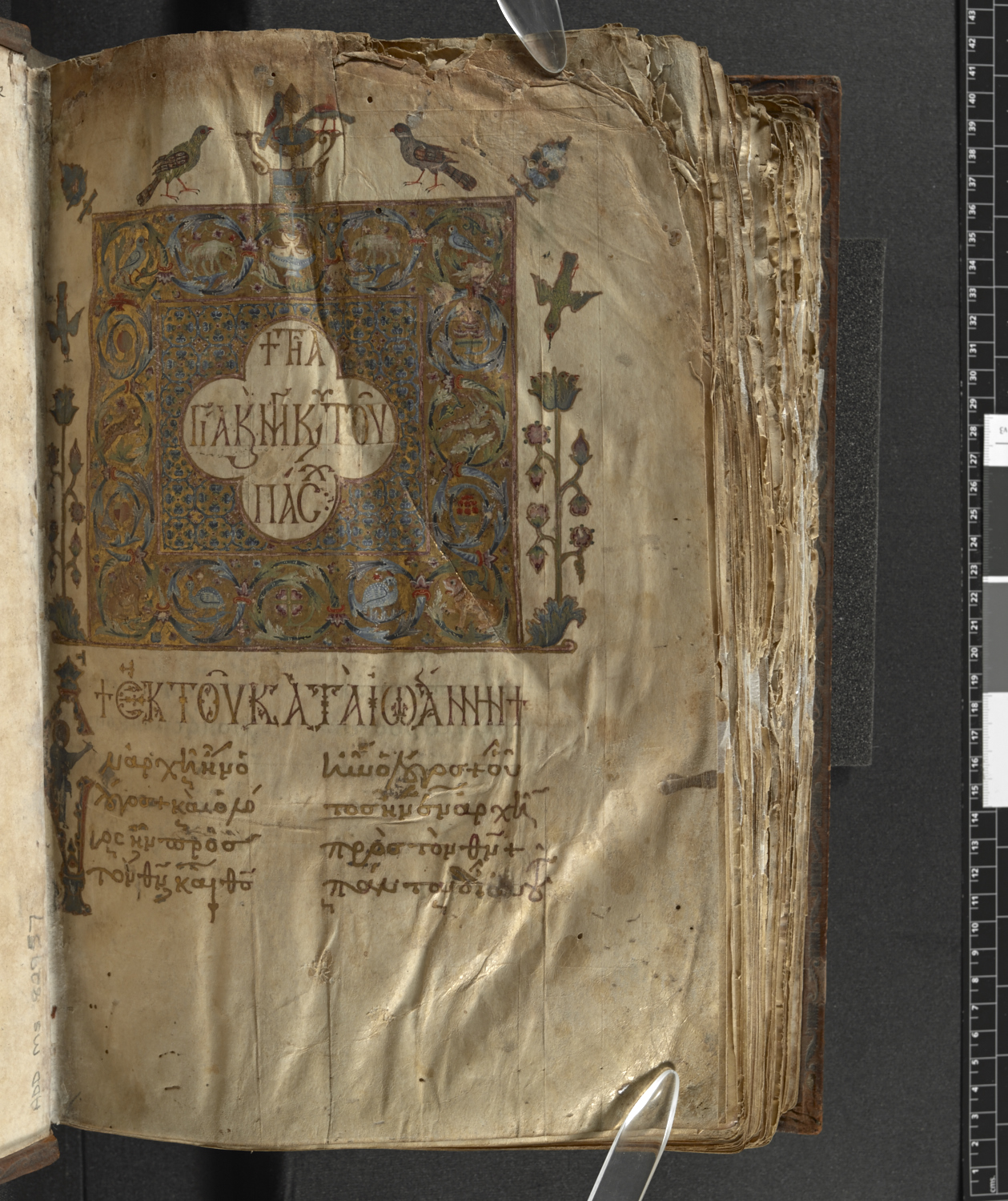 Imaging Services - Greek Manuscript