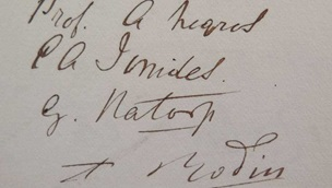 Signatures in the Hertford House visitors' book