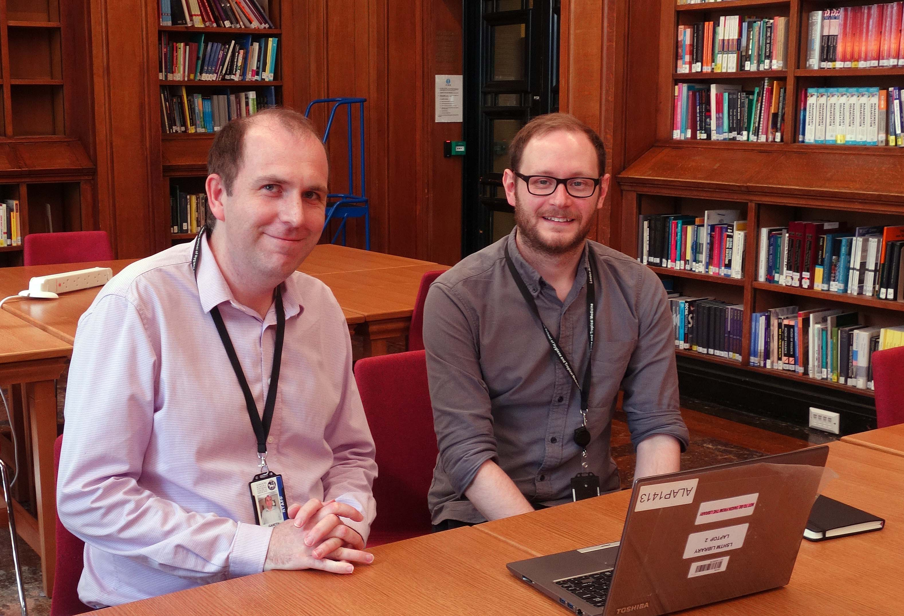 Gareth Knight (Research Data Manager) and Dominic Walker (Research Publications Manager)