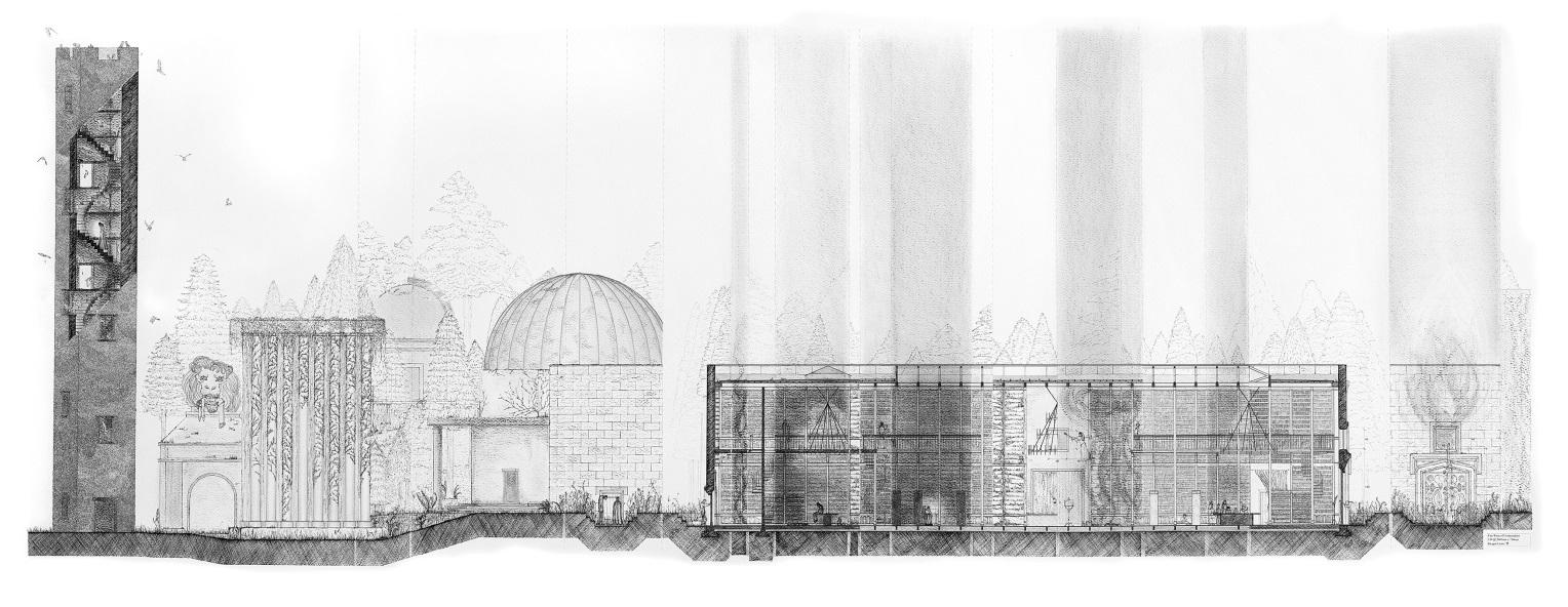 Imogen Lesser take on Mervyn Peake Architectural Drawings