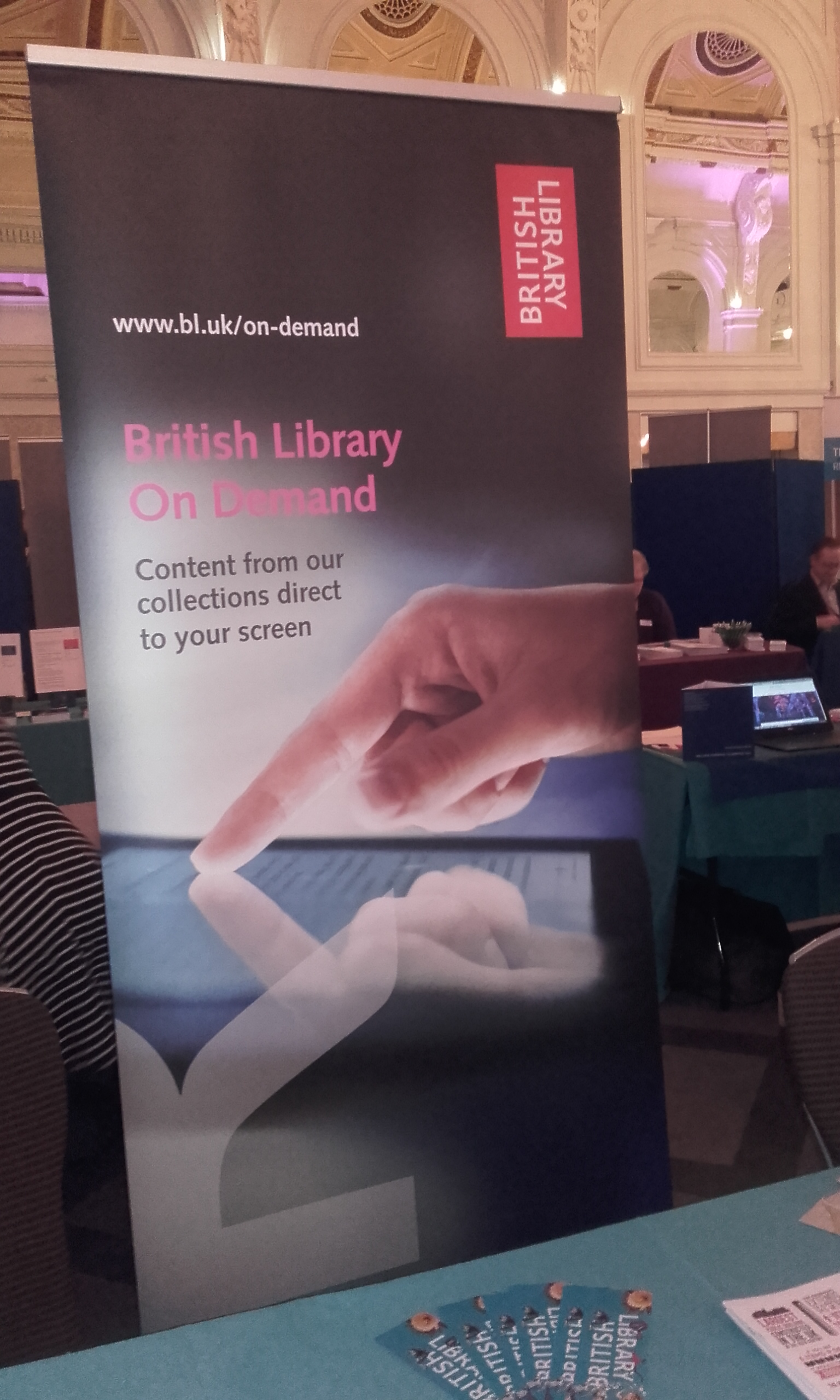 British Library On Demand exhibition Stand
