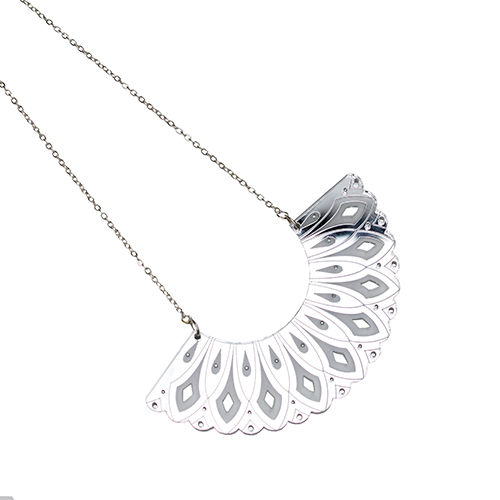 Shakespeare Shop range silver ruff necklace