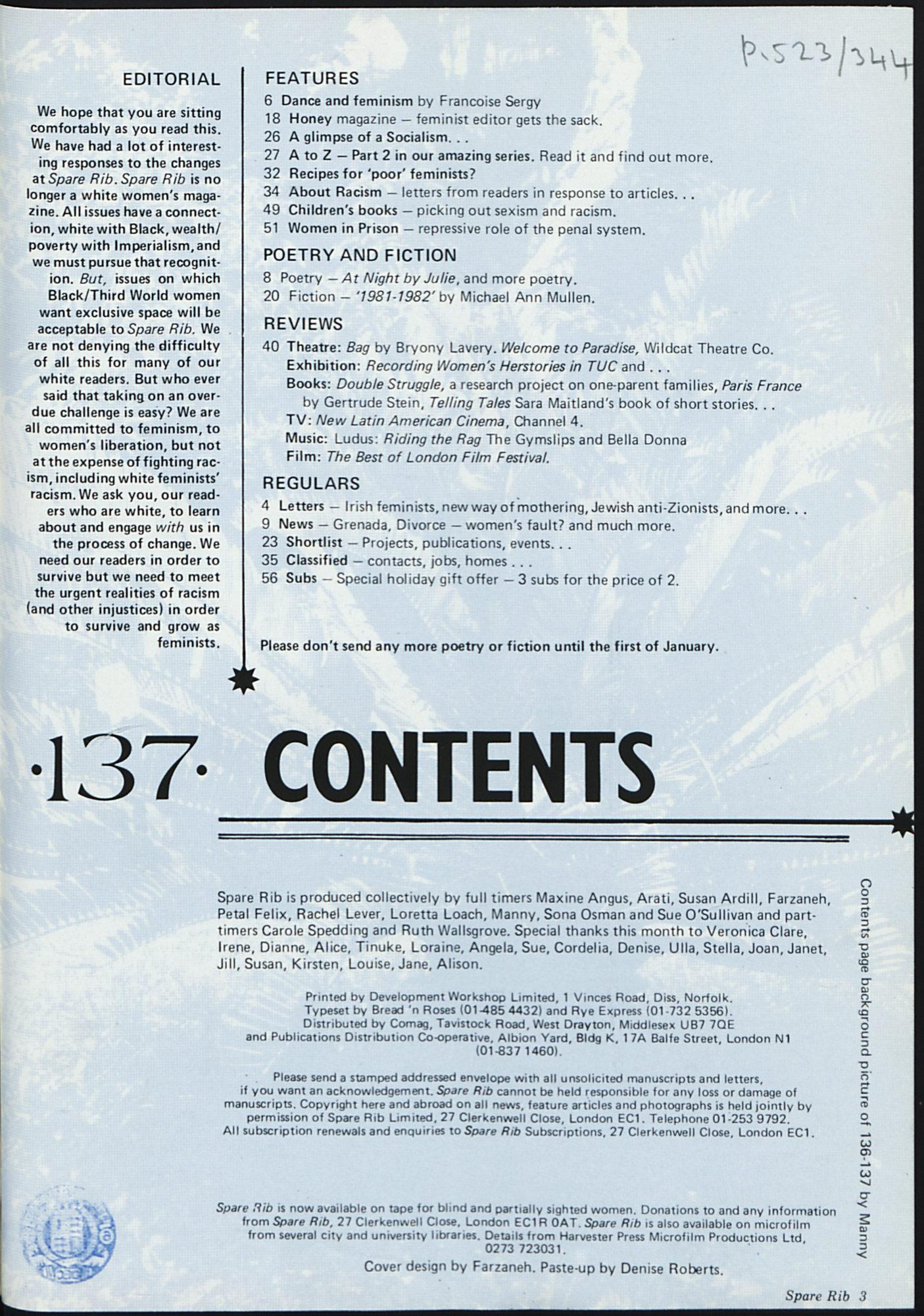 Spare Rib magazine issue 137 p. 3