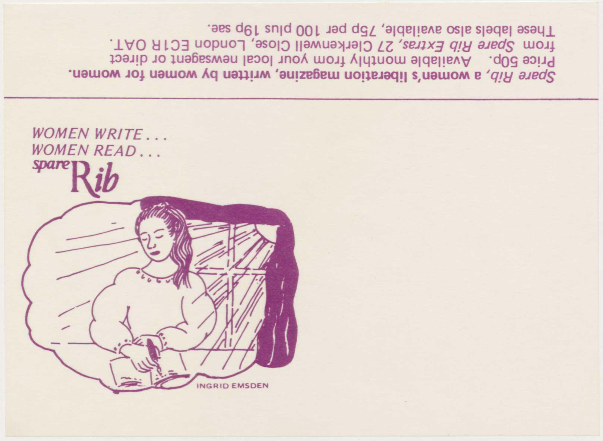 Spare Rib magazine gummed label