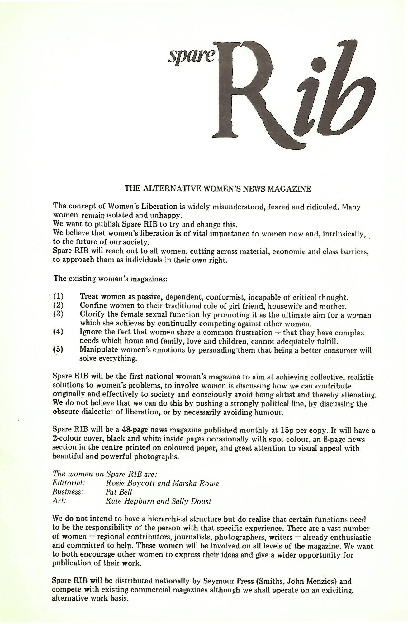 Spare Rib manifesto