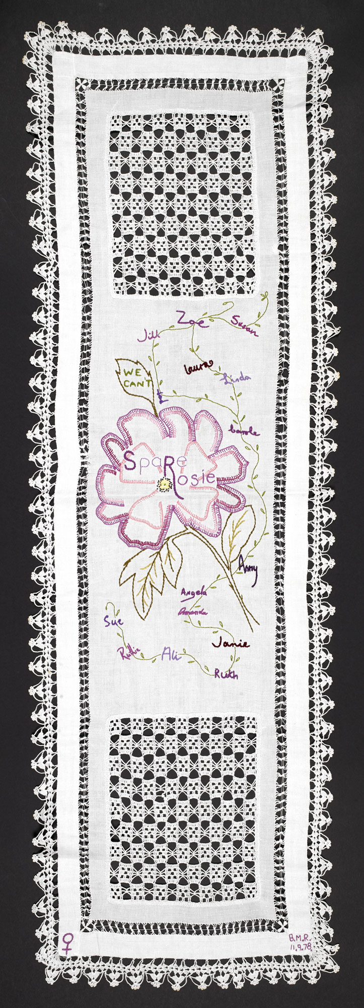 Rosie Parker embroidered table runner