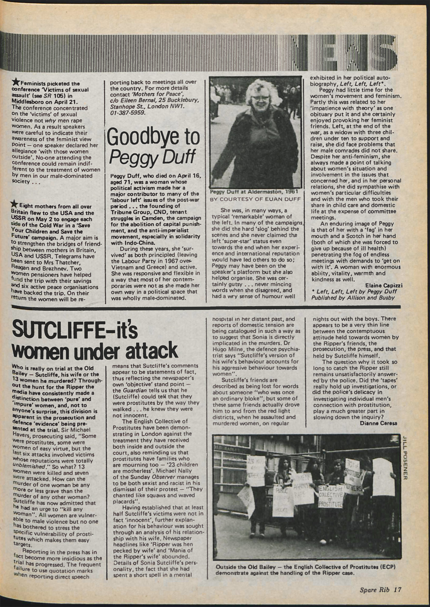 Spare Rib magazine issue 107 Yorkshire Ripper