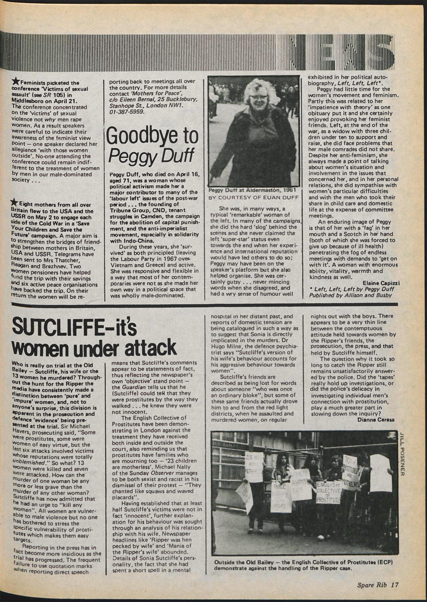 Spare Rib magazine issue 107 Yorkshire Ripper