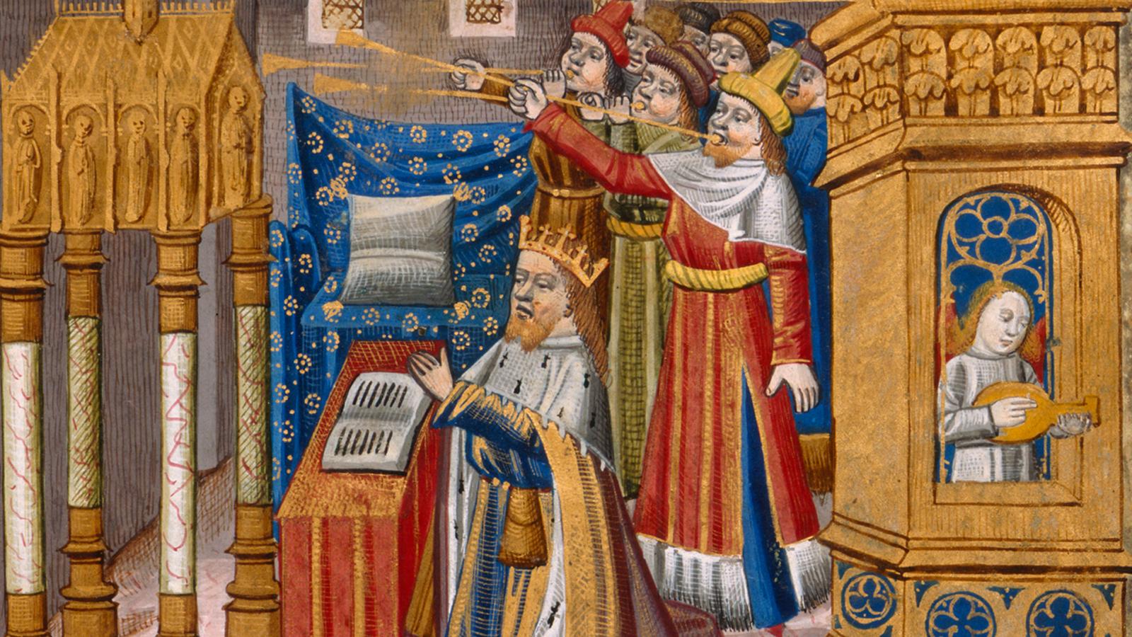 Literature, music and illuminated manuscripts