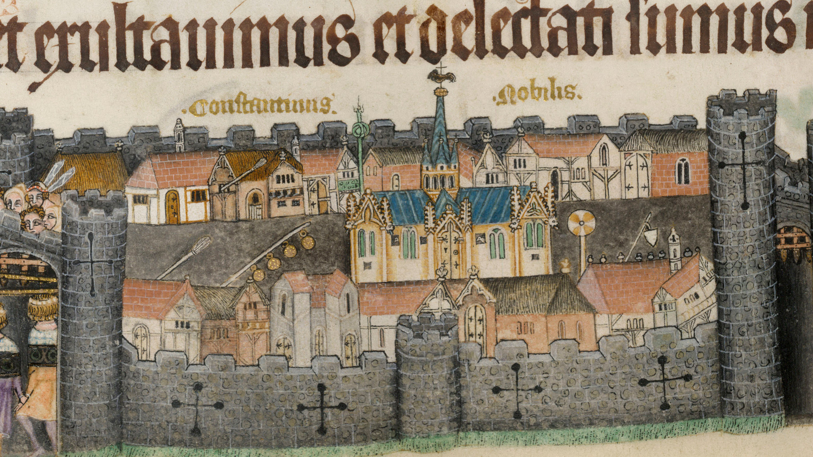 Inside the walls: exploring towns in the Middle Ages