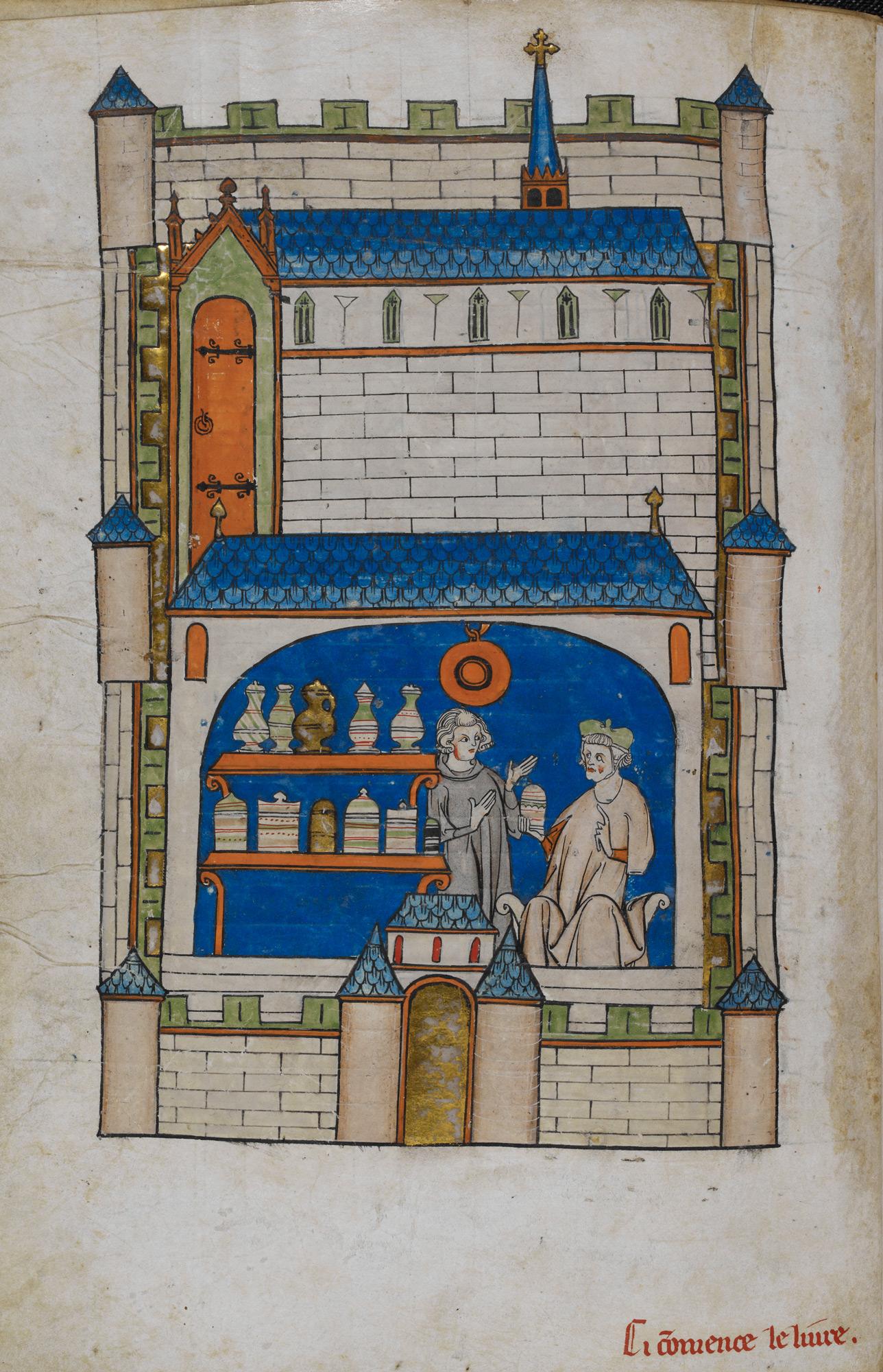 An apothecary shop
