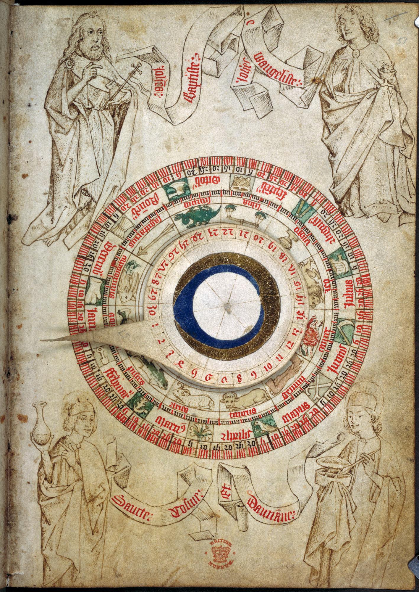 A circular zodiac chart
