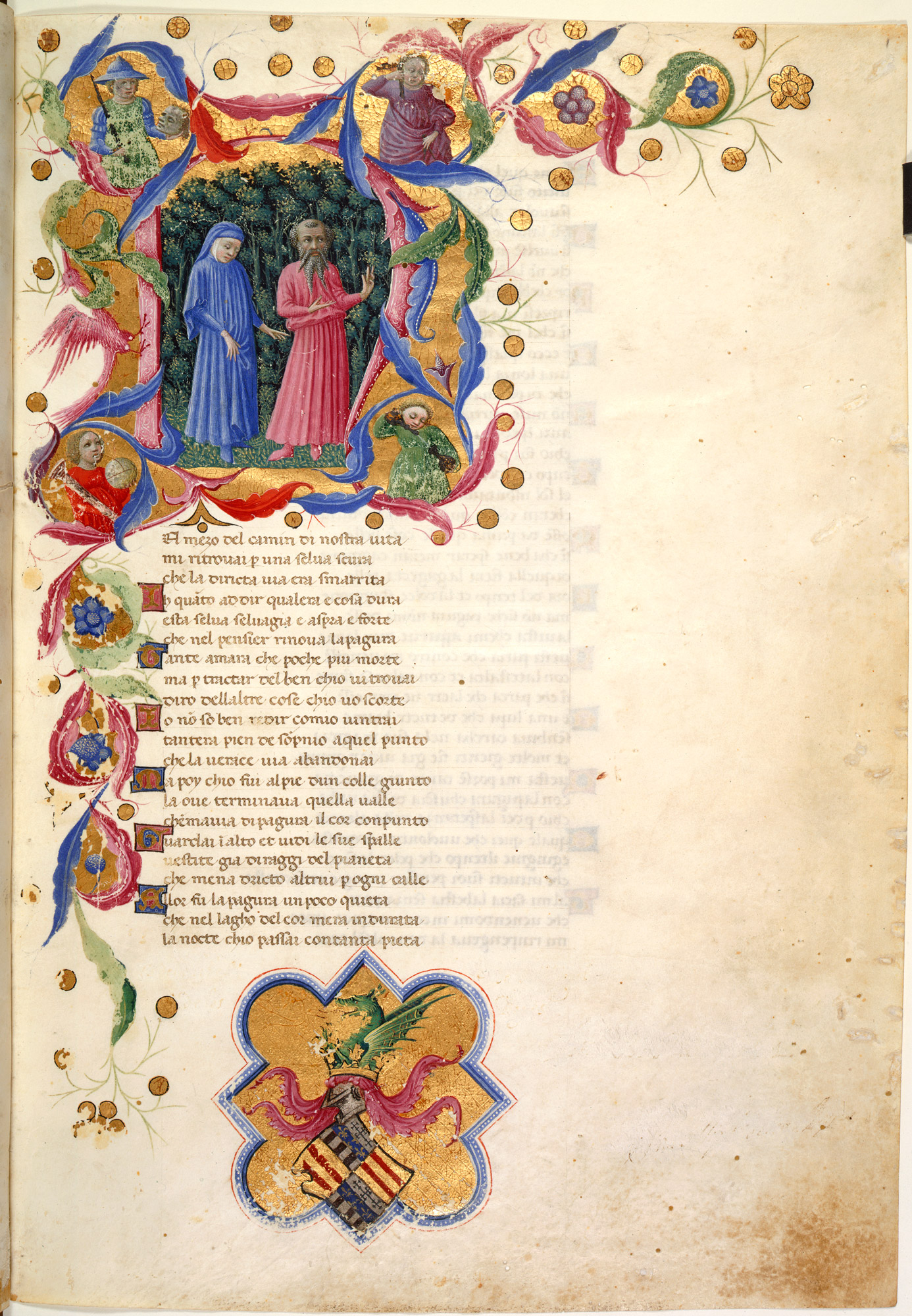 Illustration of Dante and Virgil in Dante's Divine Comedy