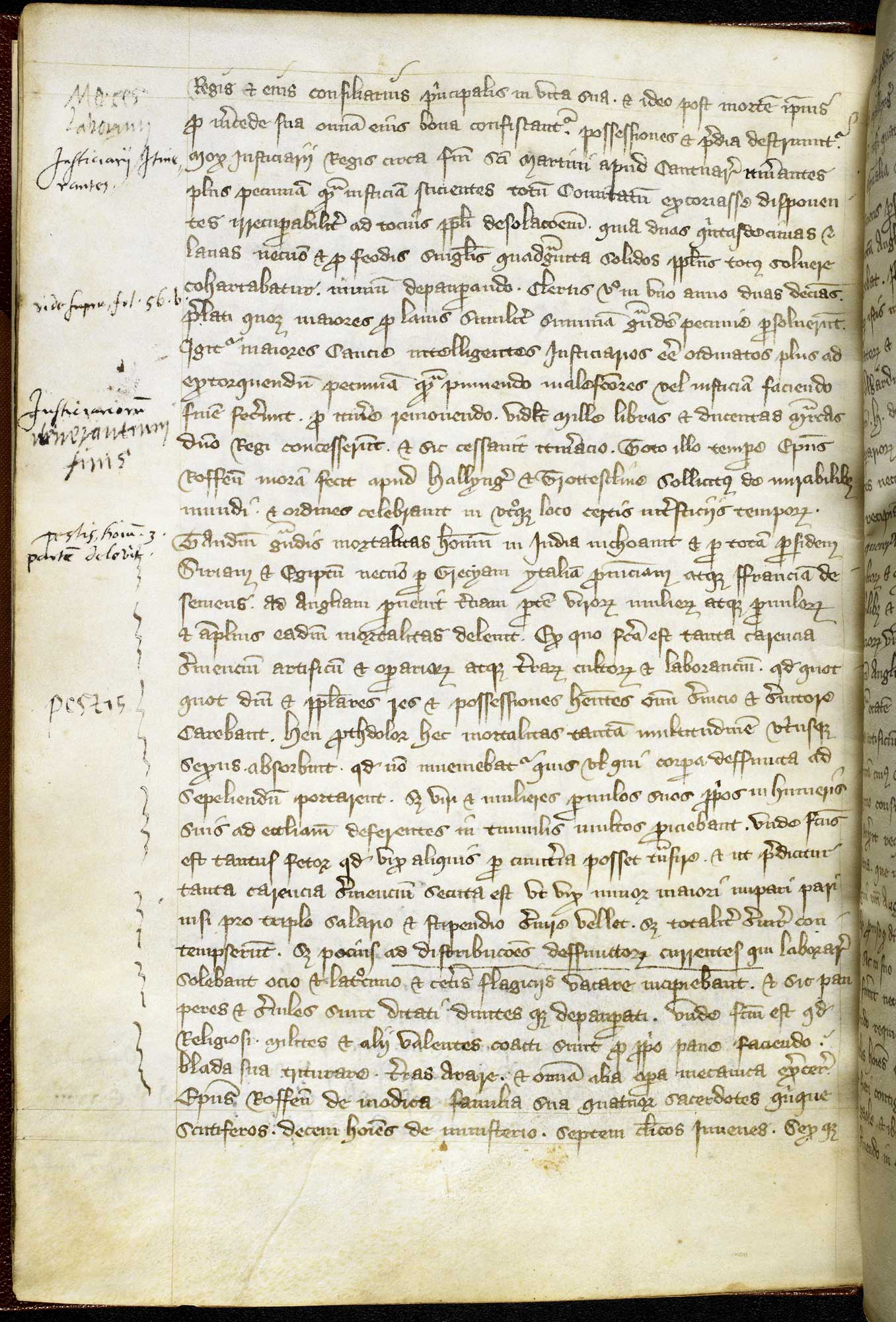 A firsthand account of the Black Death written at the Cathedral of Rochester