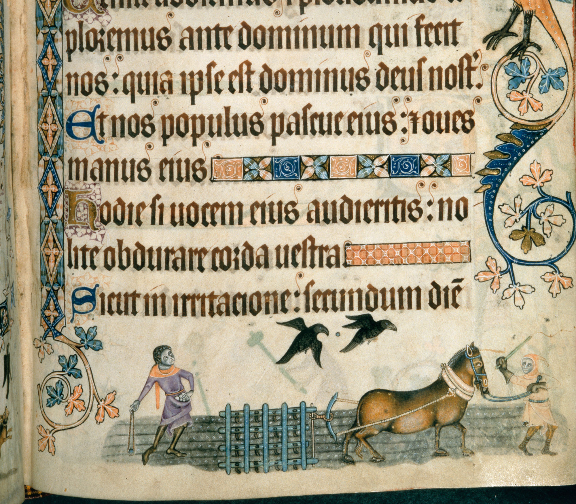 Harrowing as depicted in the Luttrell Psalter