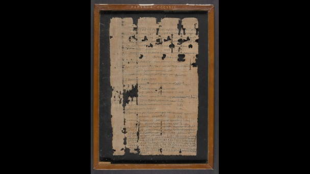A 2nd-century papyrus, preserving a letter written by a brother to his sister.