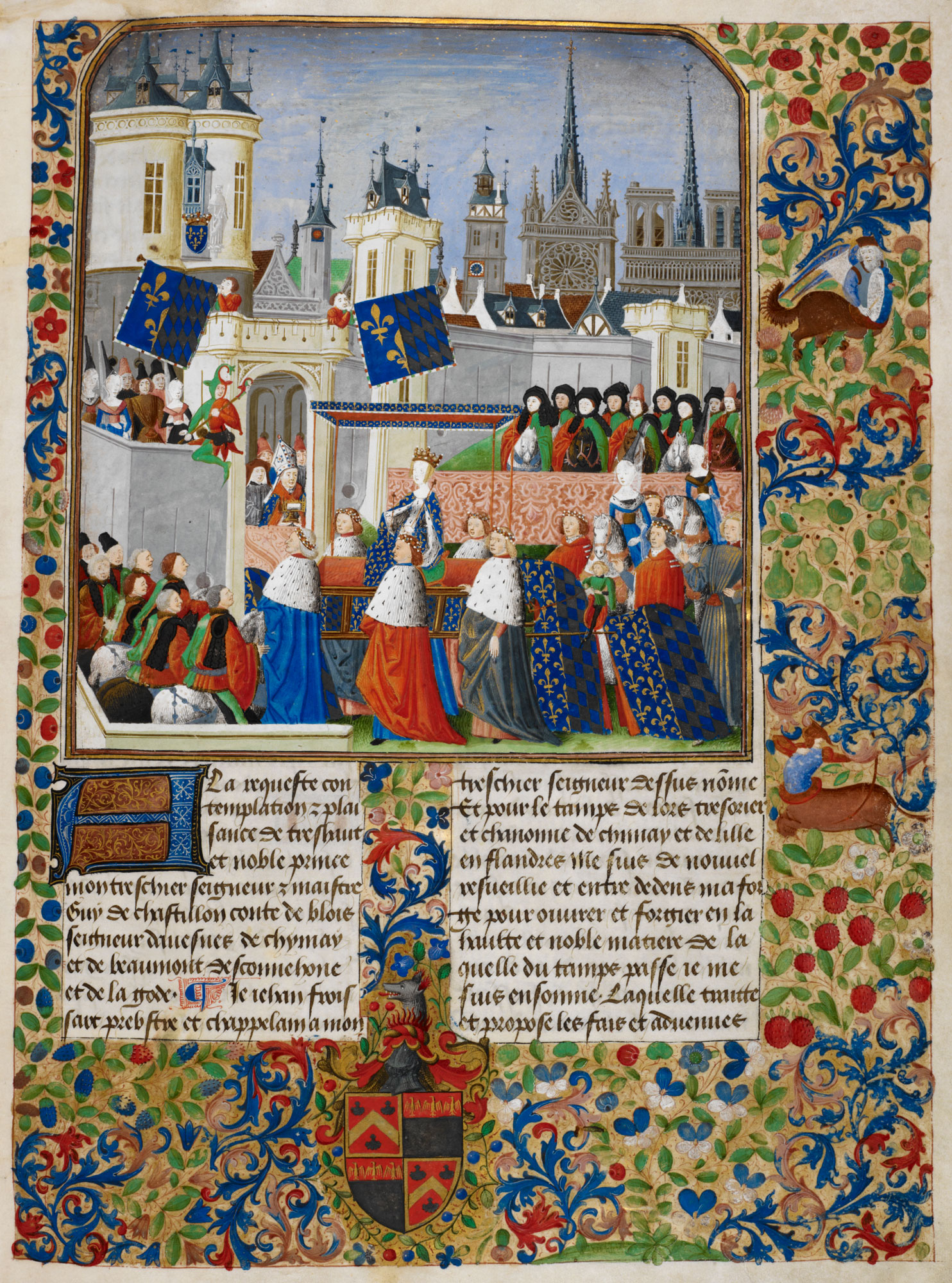 Queen Isabella in procession